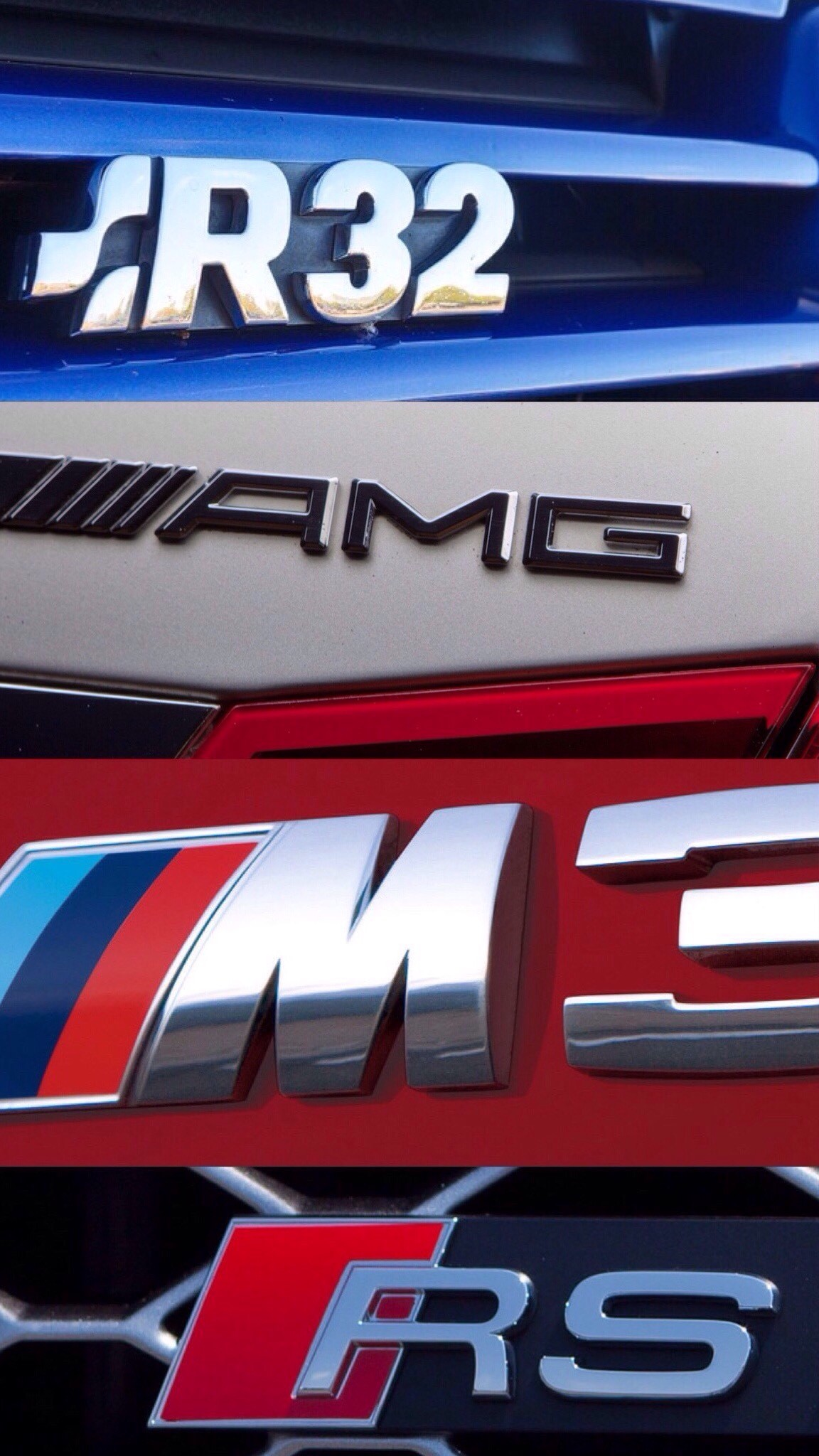 """iPhone Wallpaper: """"R32, AMG, M3, RS"""" – Wallpapers"""