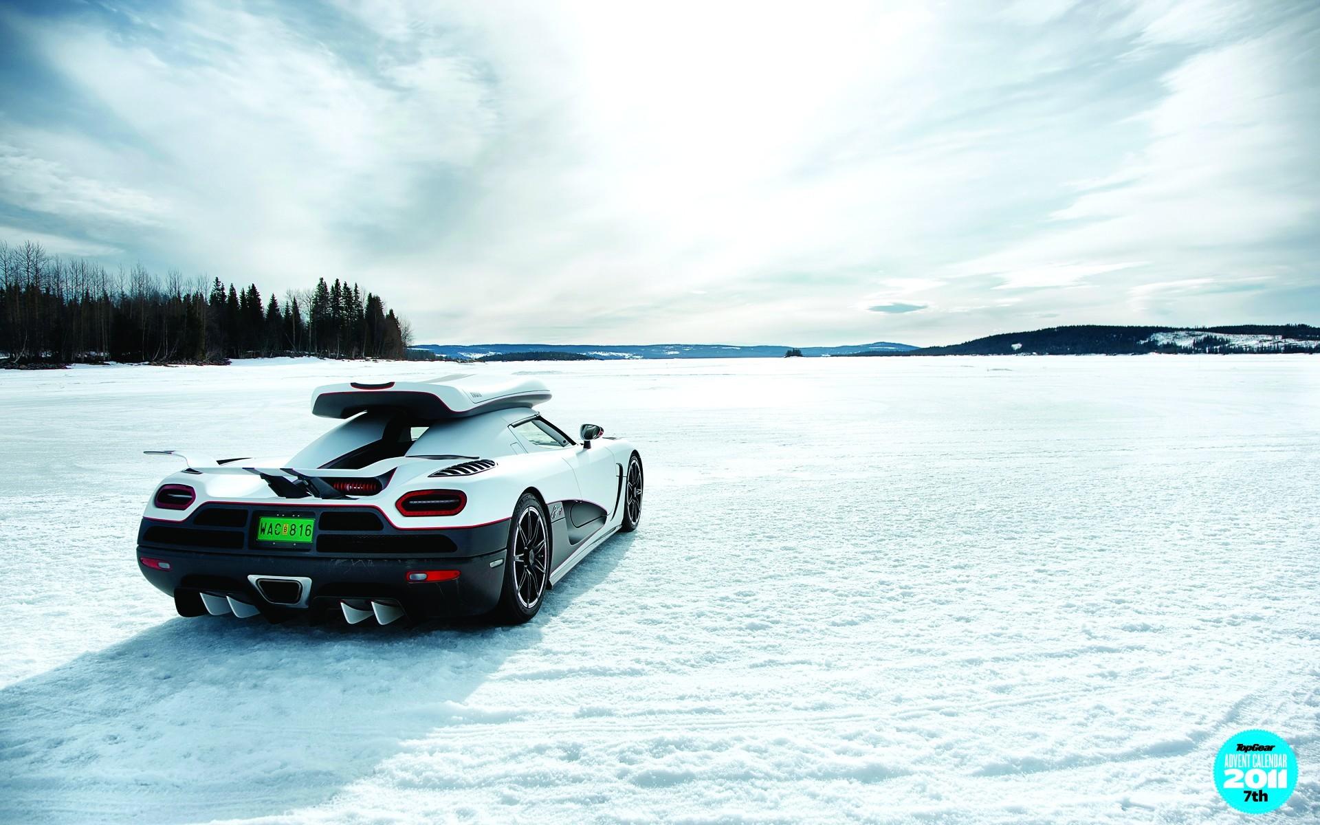 Cars Koenigsegg Agera R Skyscapes Snow Top Gear Winter