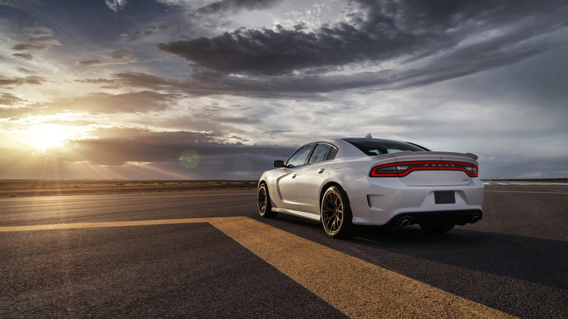 Preview wallpaper dodge, charger, srt, hellcat, 2015, cars, road 1920×1080