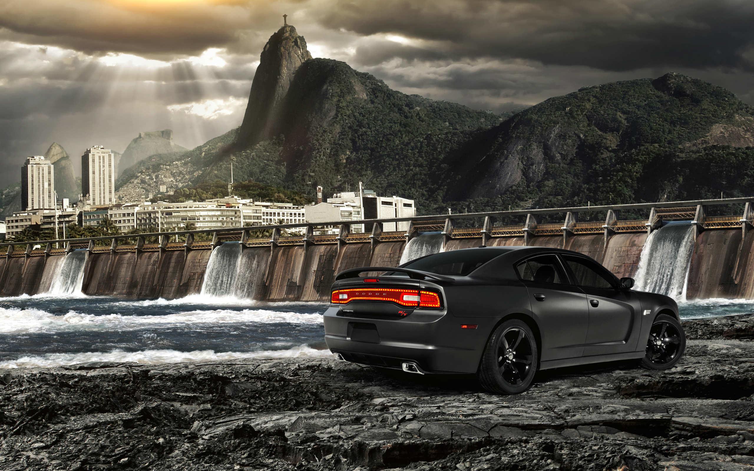 2014 Black Dodge Charger Wallpaper – HD