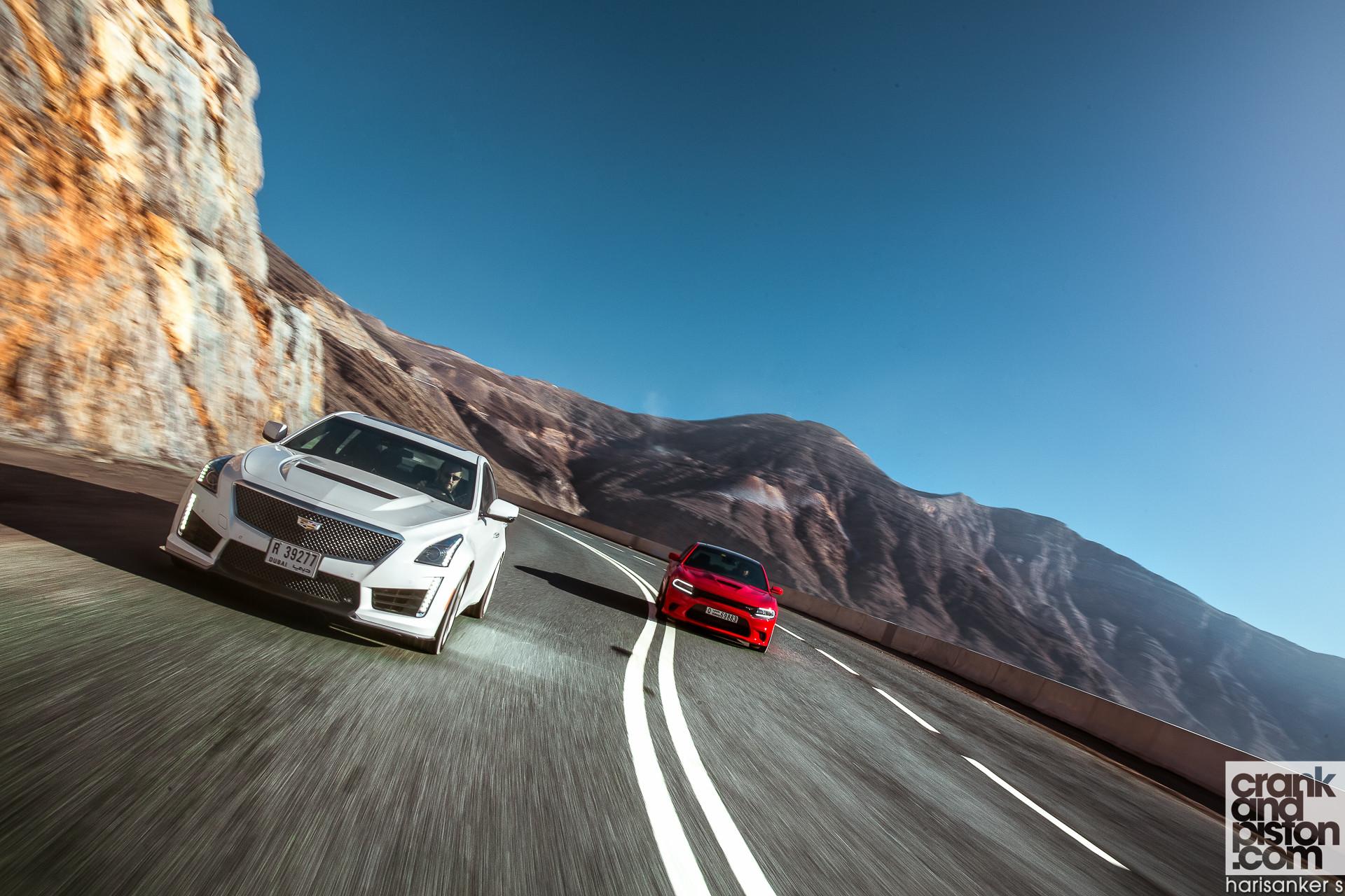 … Cadillac CTS-V vs Dodge Charger SRT Hellcat WALLPAPERS crankandpiston-5  …