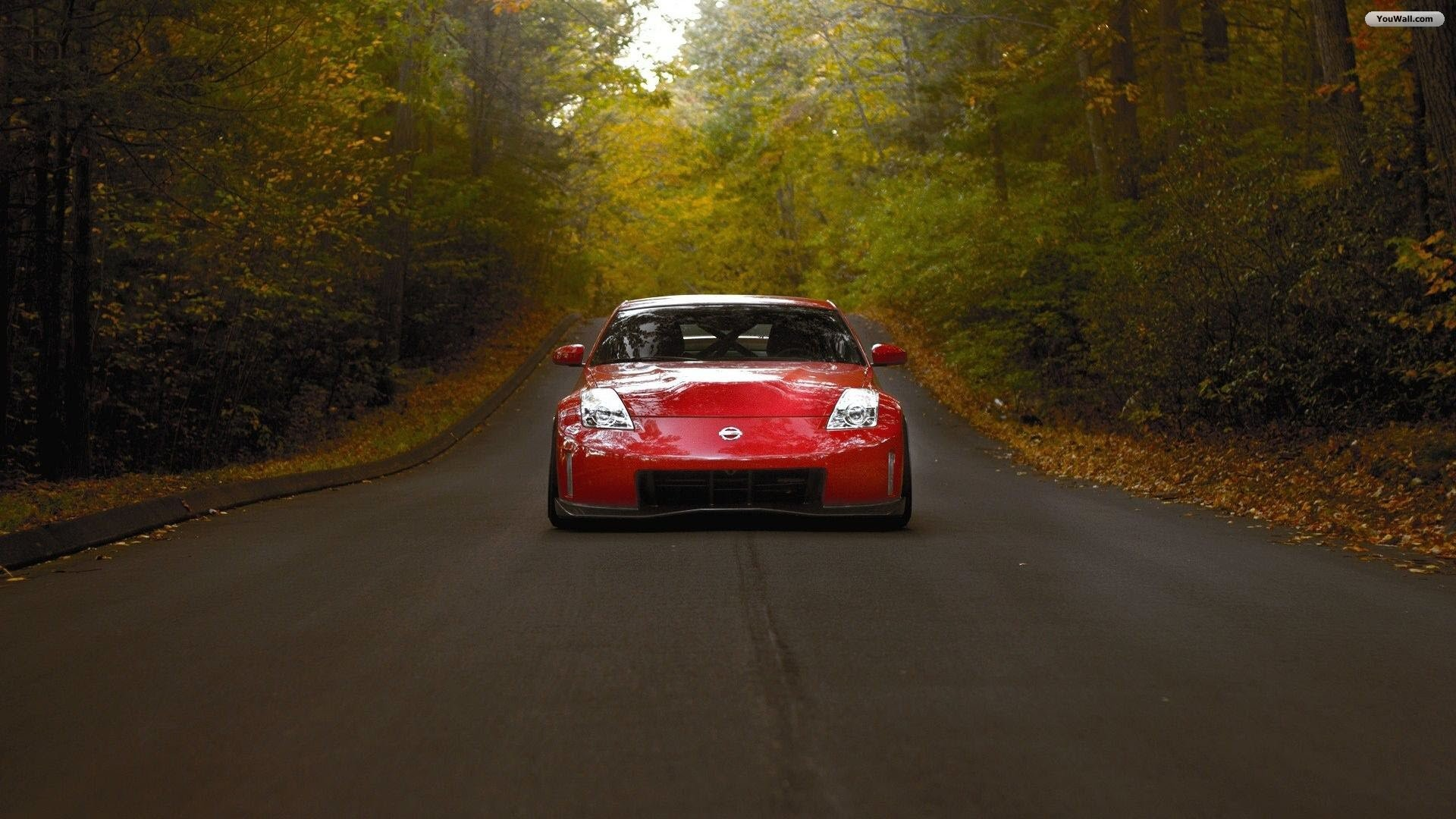 Red Nissan 350Z Wallpaper