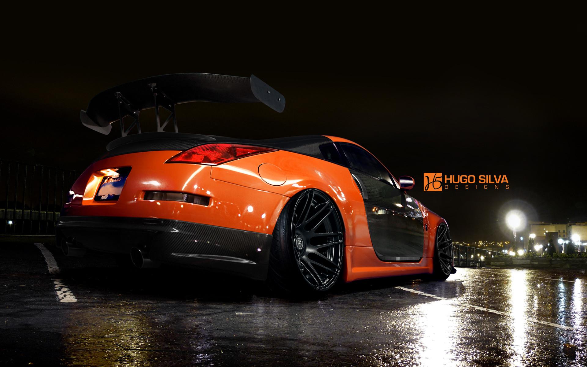 Orange Nissan 350z