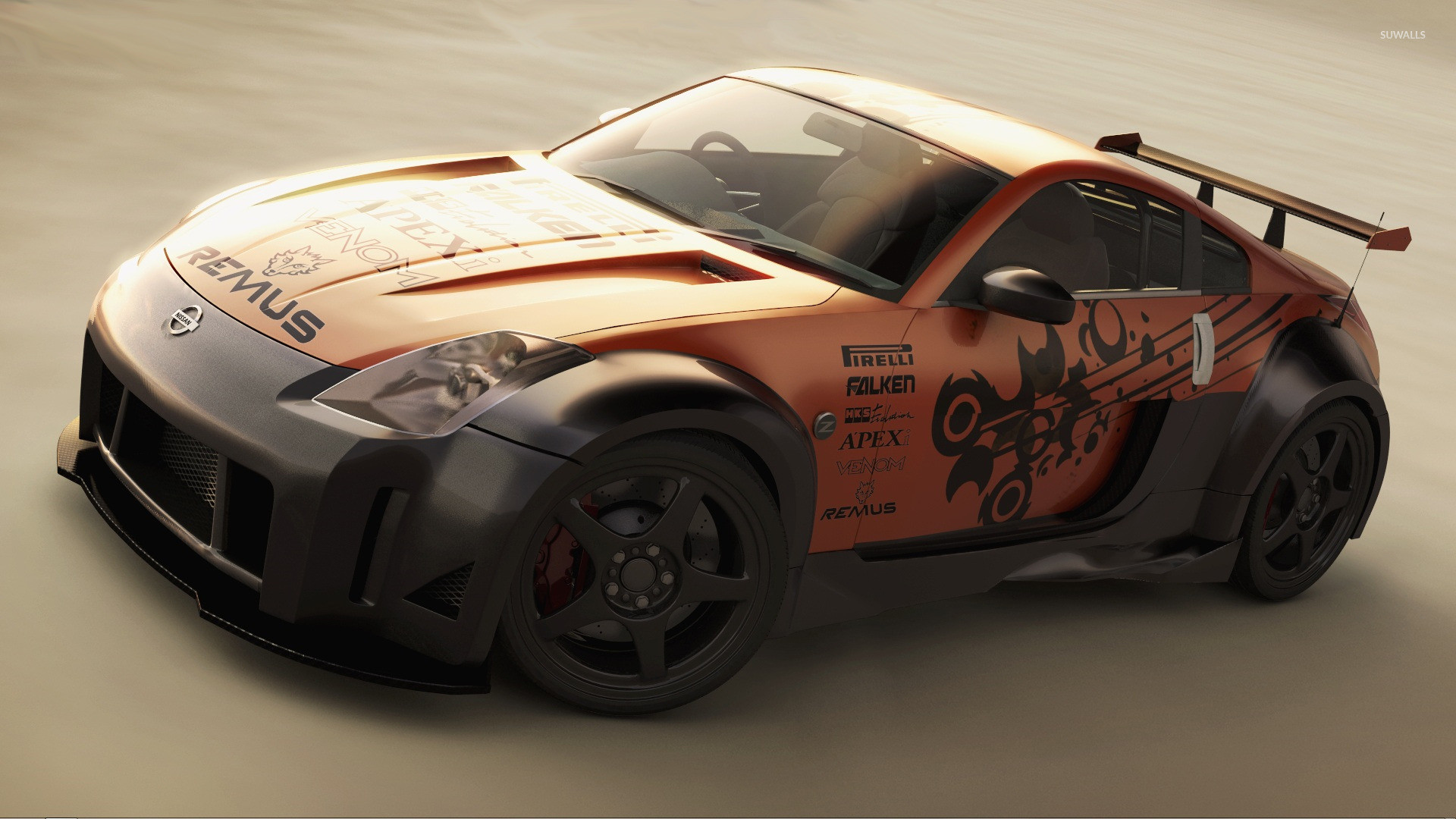 Tuned Nissan 350Z wallpaper