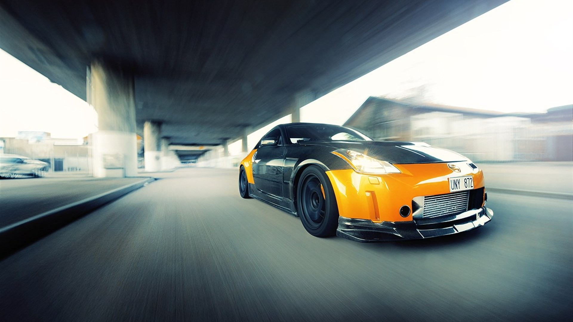 … nissan 350z, car, motion picture, road, speeding, auto wallpaper