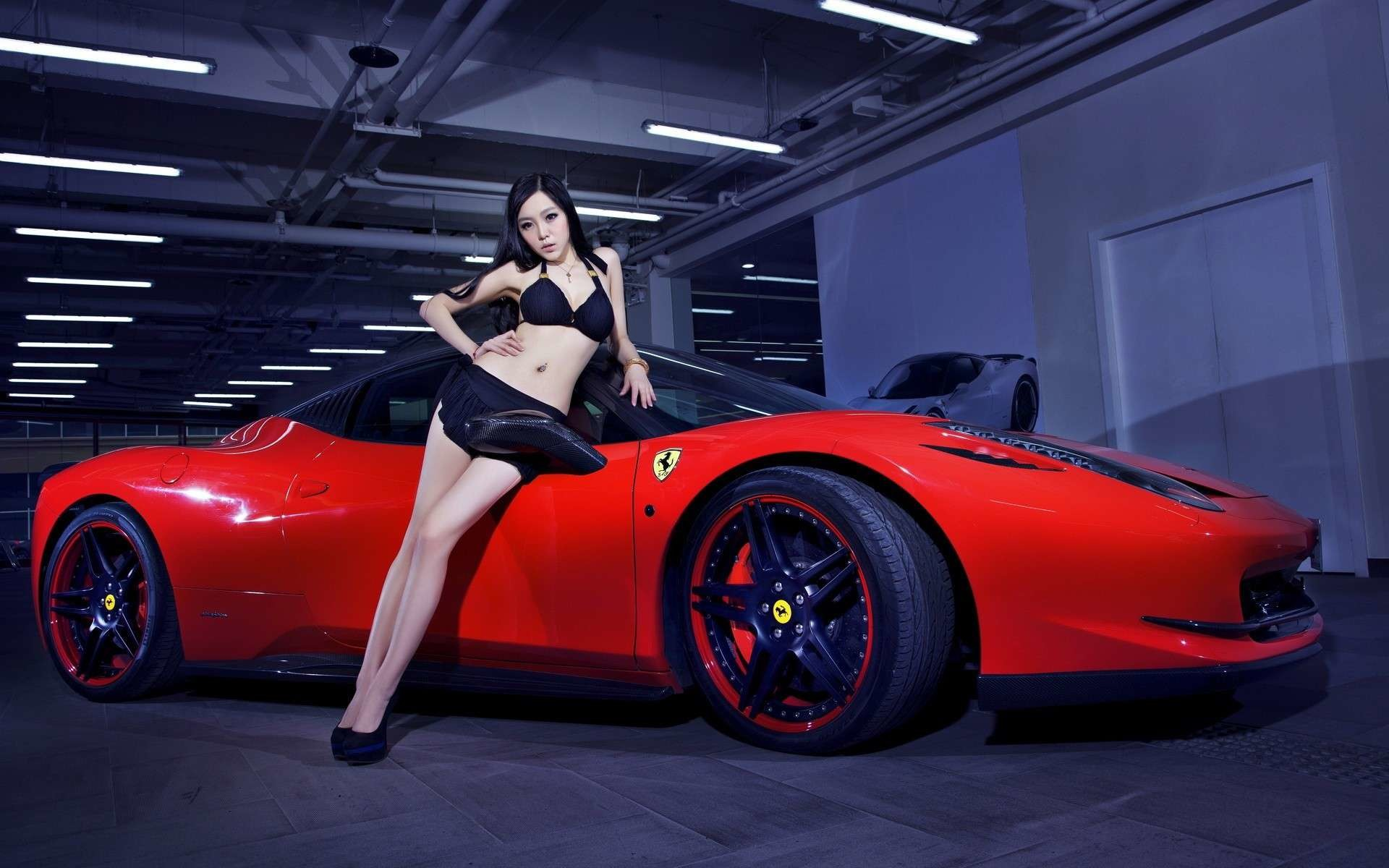 car with hot girl wallpaper