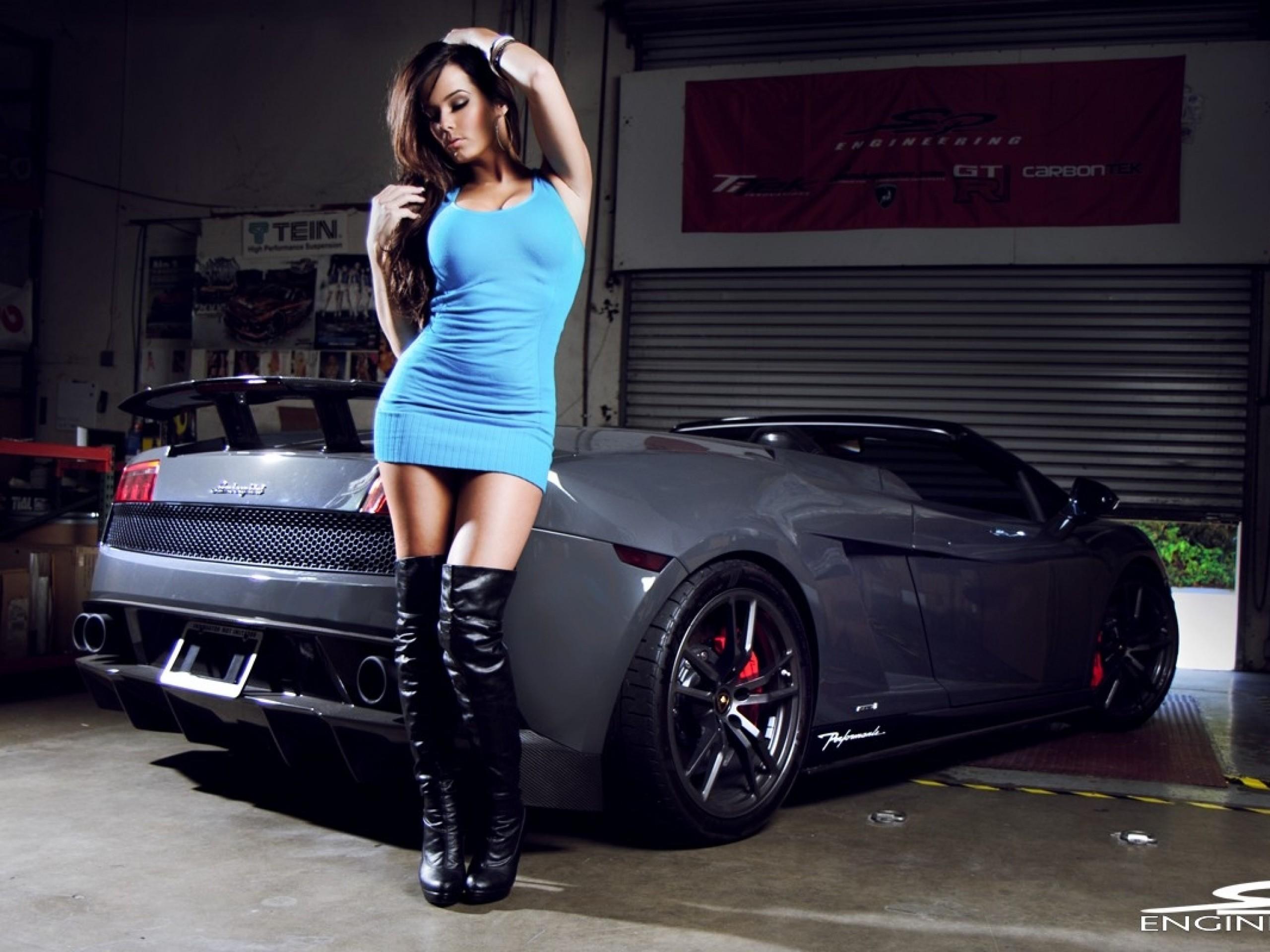 women lamborghini blue dress girls with cars leather boots wallpaper – Cars  Lamborghini HD Desktop Wallpaper