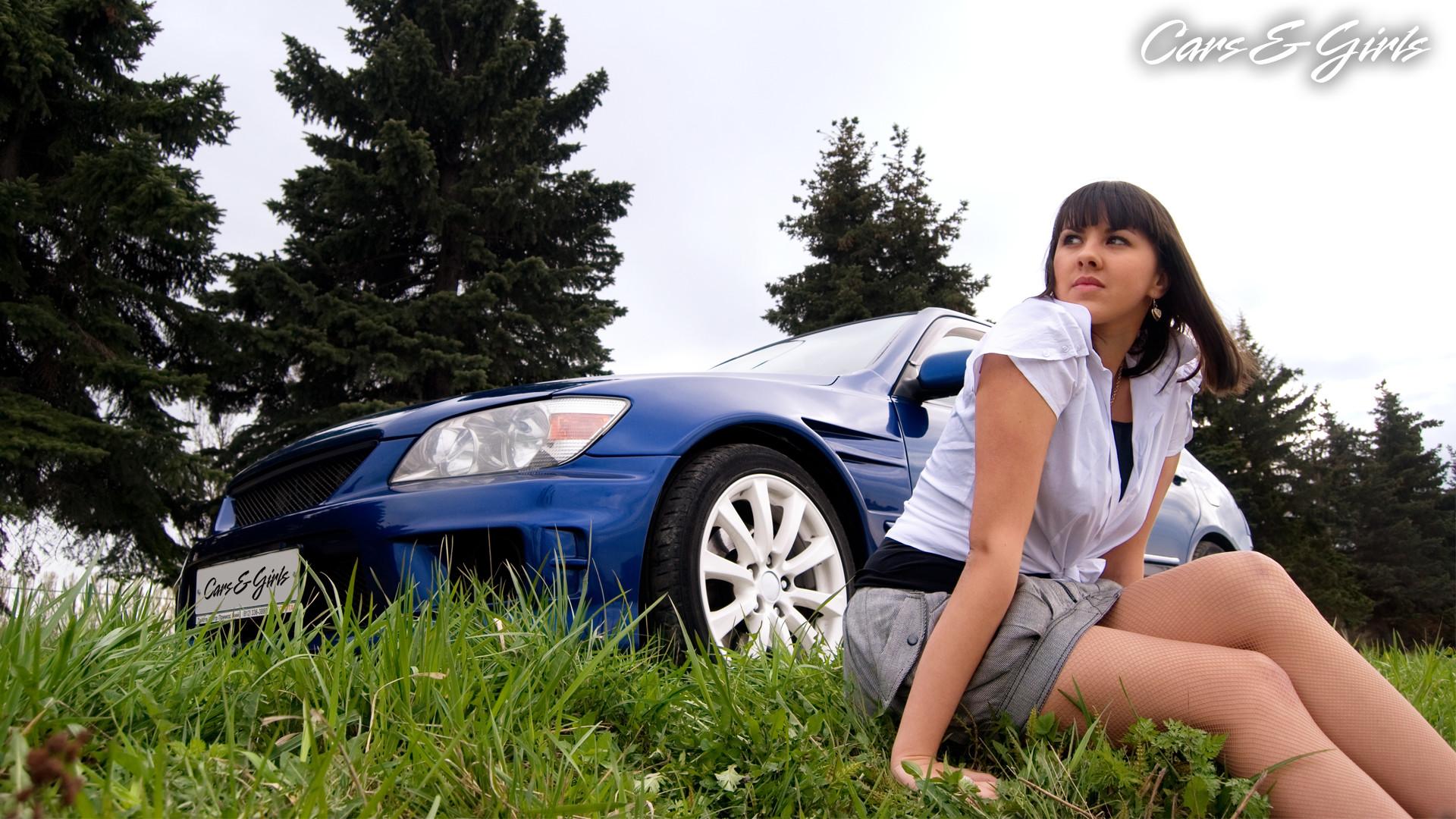Car & Girl HD Wallpaper Download