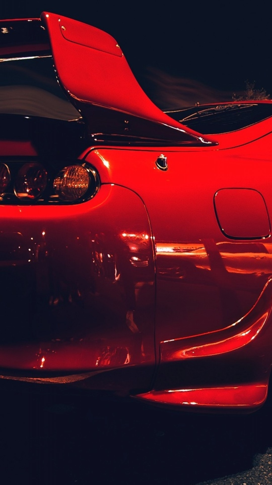 Toyota Supra, Red, Back View, Sport, Cars