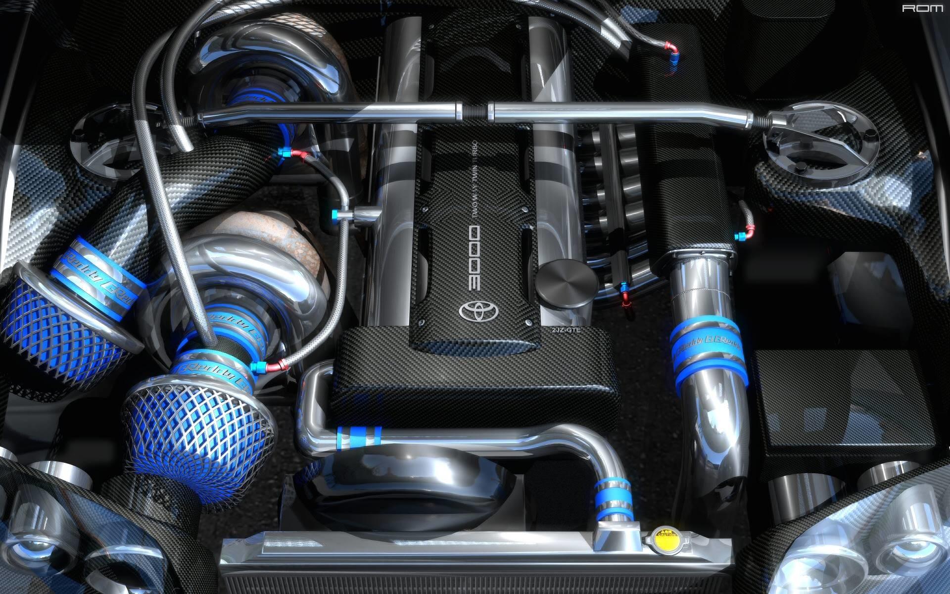 Twin Turbo Toyota Supra Engine on