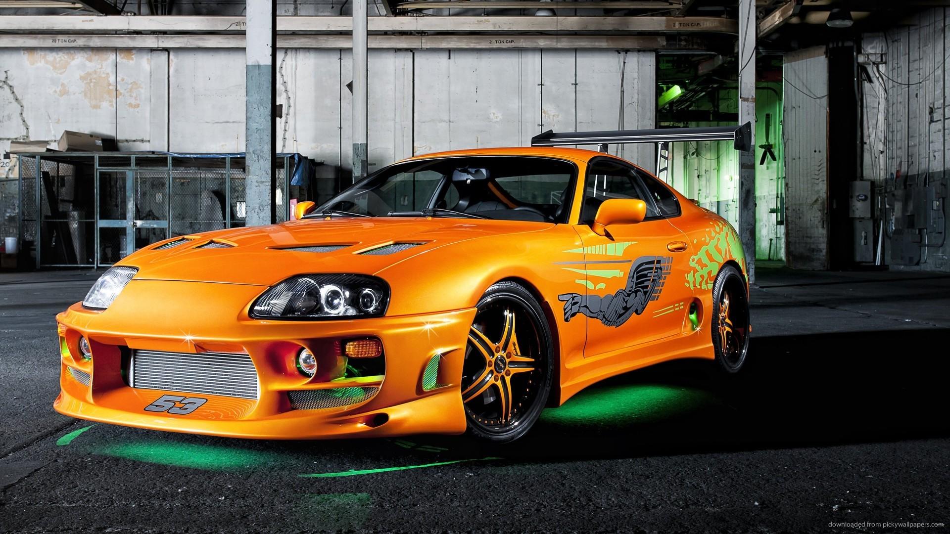 Tuned Orange Toyota Supra picture