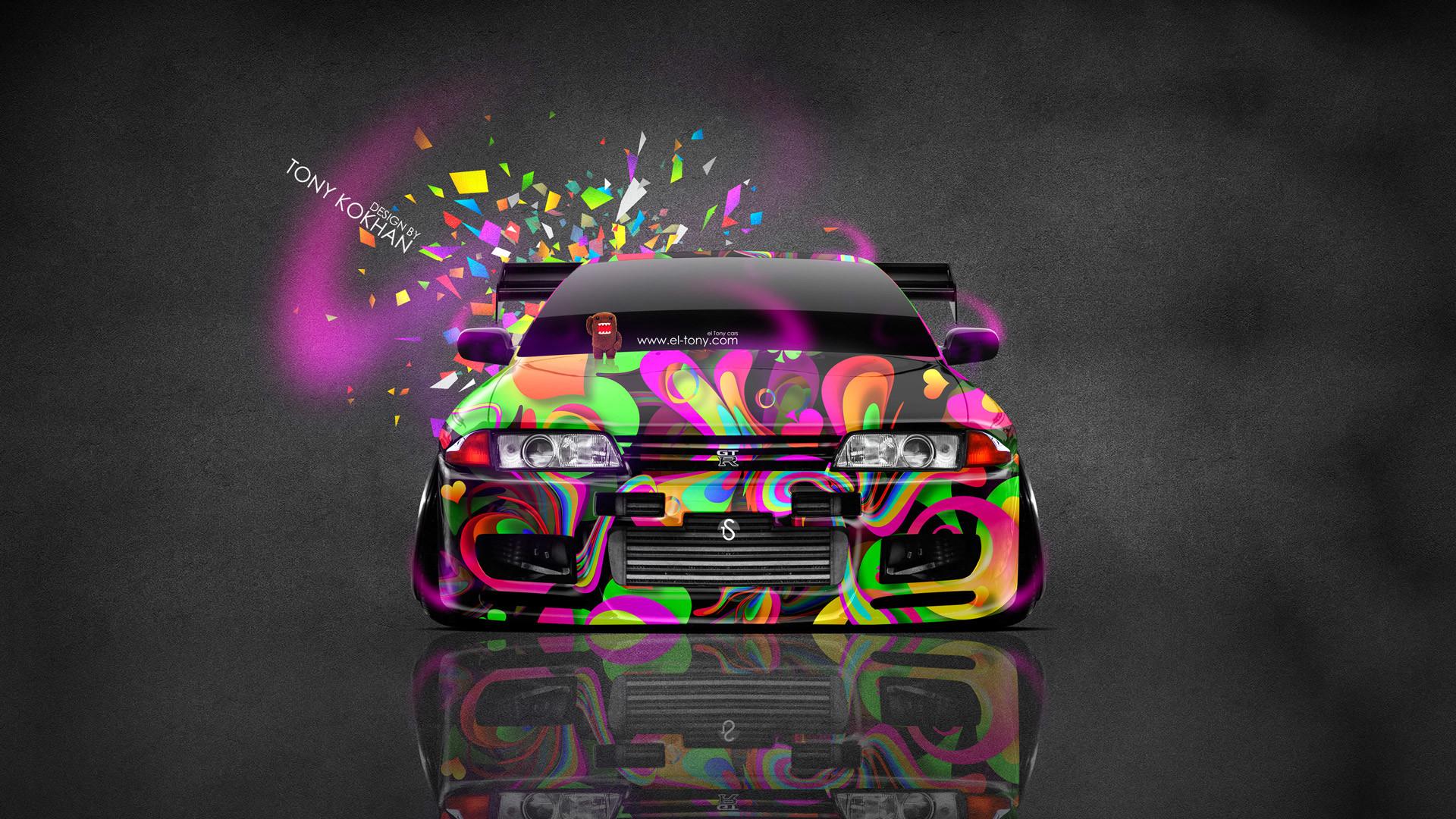 … Nissan Skyline GTR R32 JDM Front Domo Kun Toy Car 2014