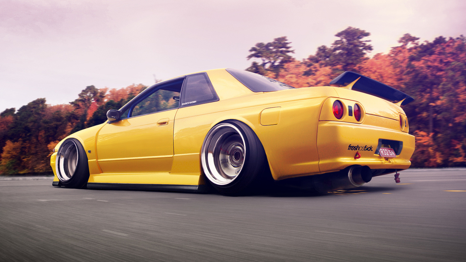Nissan-R32-Skyline-Yellow.jpg (1920×1080)