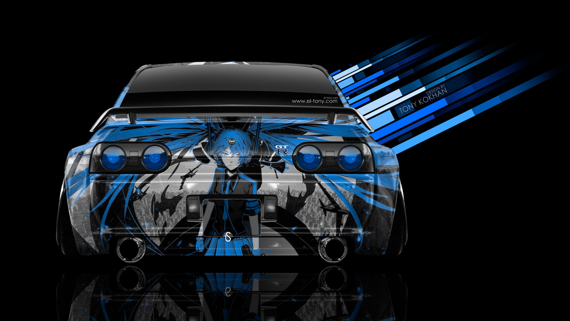 … Nissan-Skyline-GTR-R32-JDM-Back-Anime-Aerography- …
