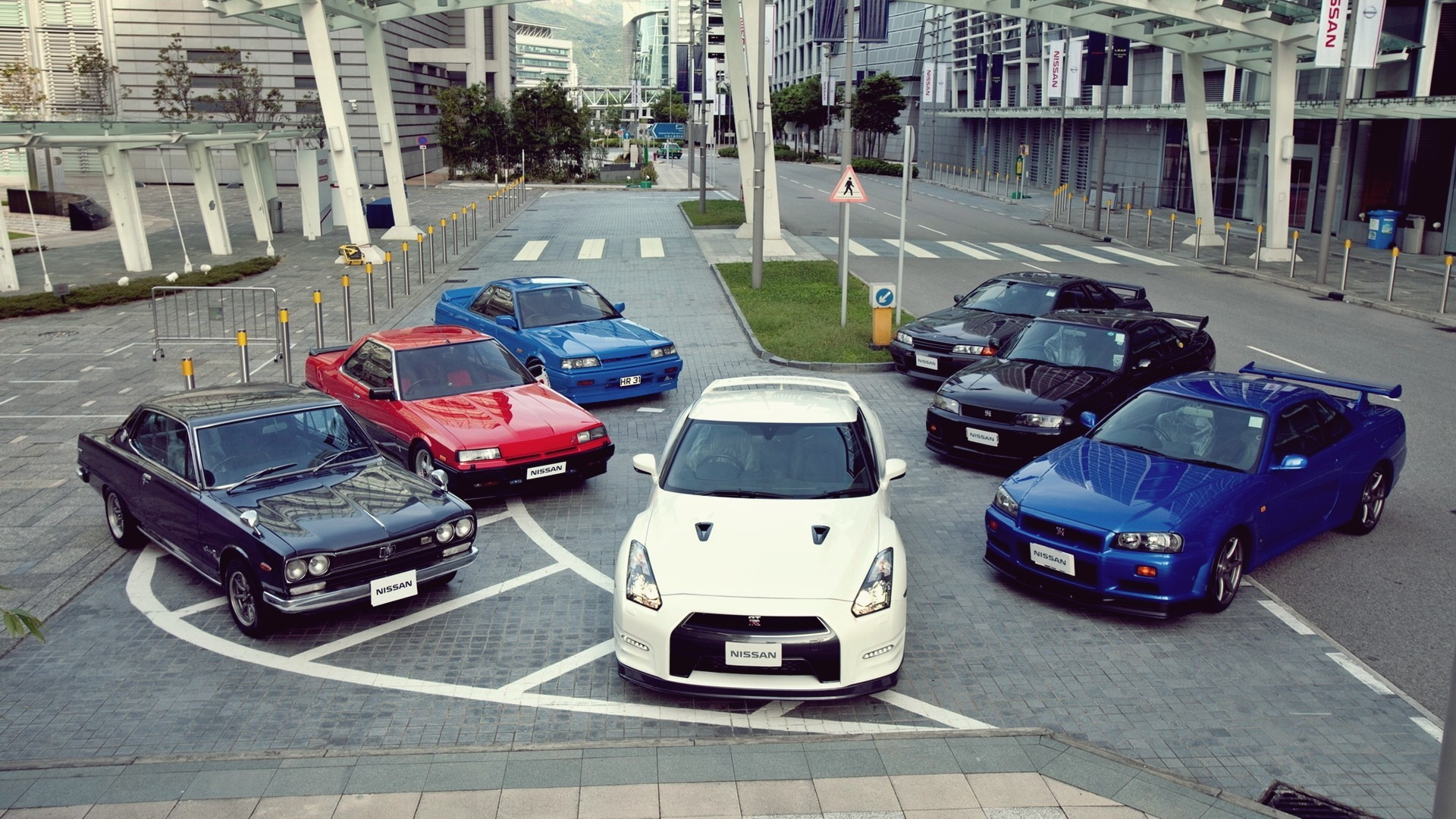 Automobile Cars Japan Nissan GTR Gtr R32 R35 GT-R Skyline R34 Roads Streets  Vehicles