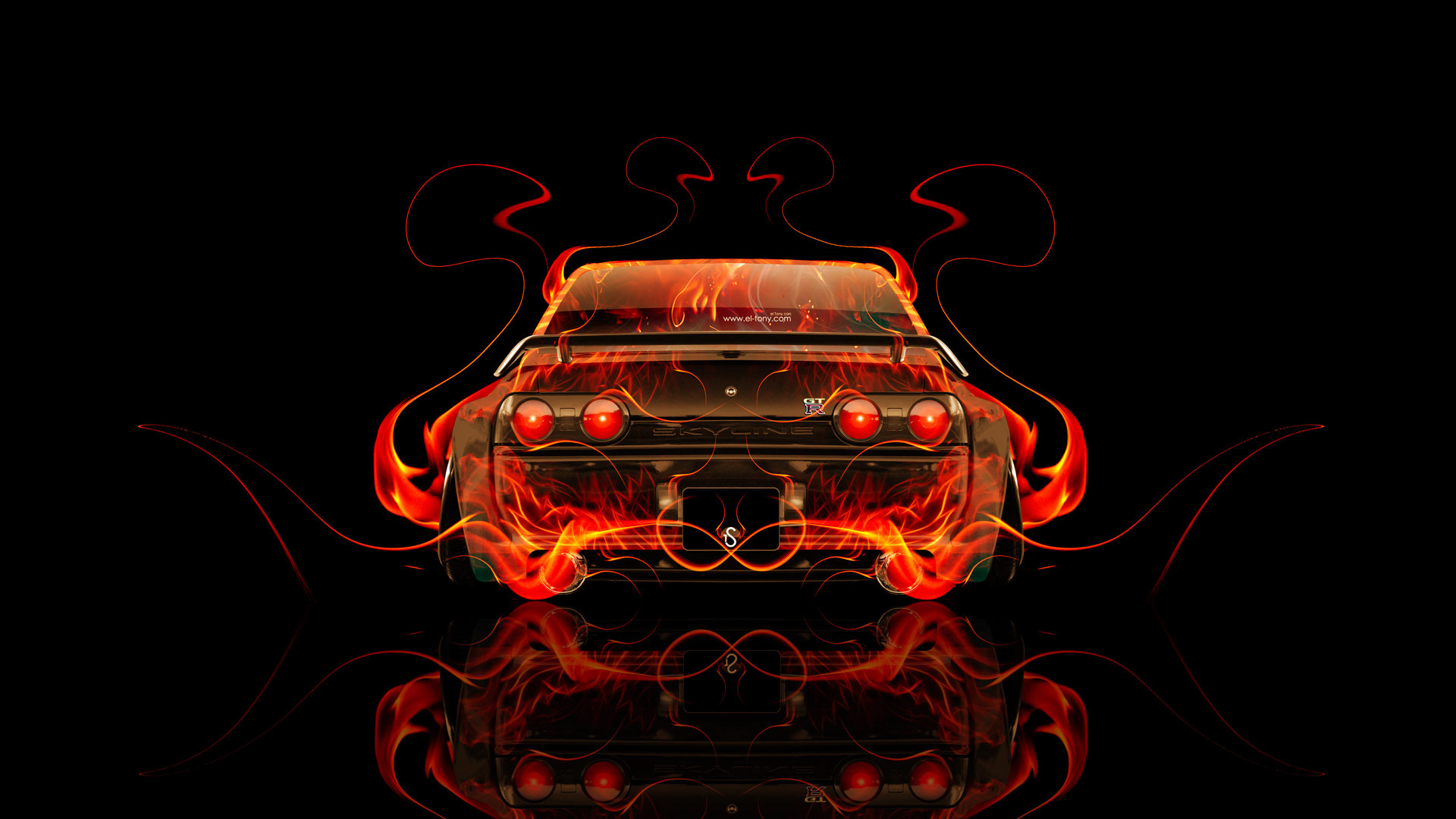 … Nissan Skyline GTR R32 JDM Tuning Back Fire Car 2014