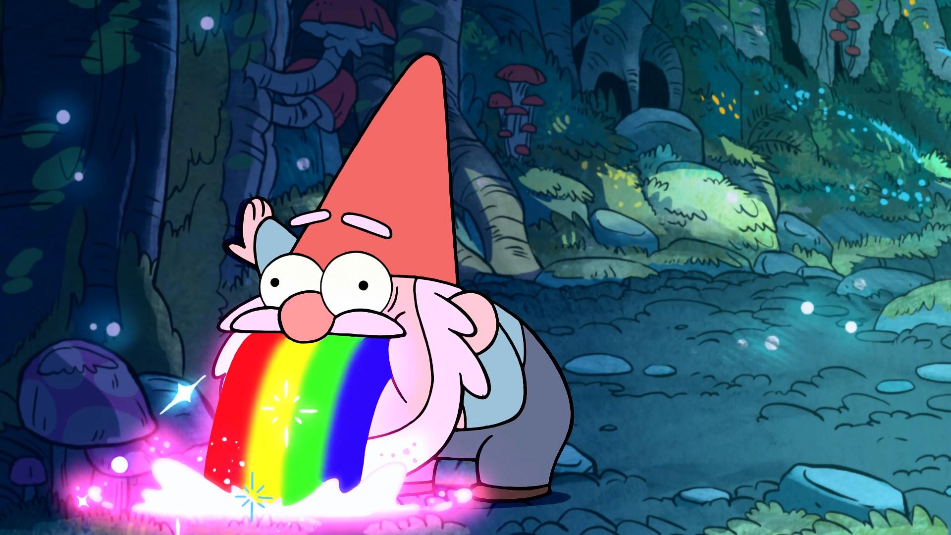 Gnome Puking Rainbows – Gravity Falls
