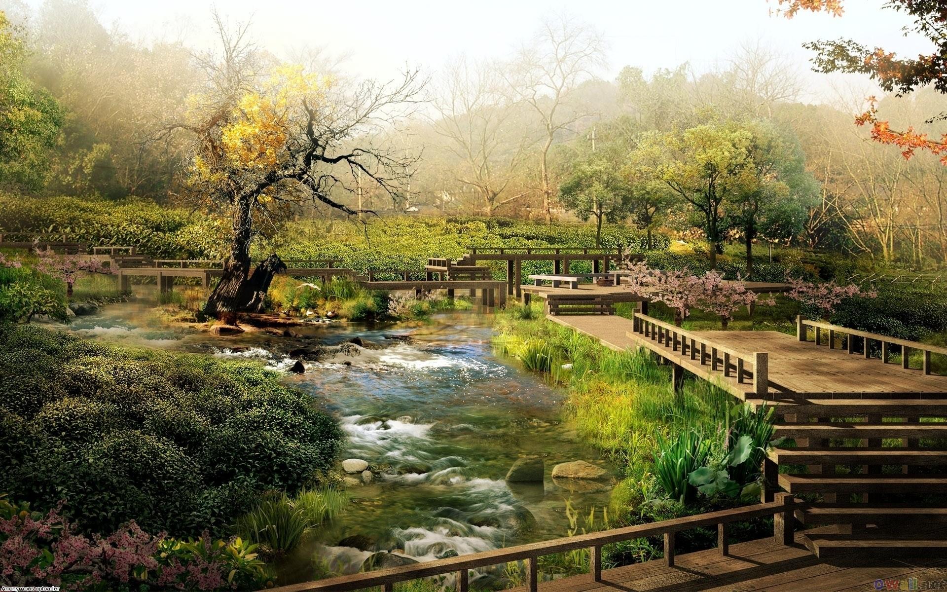 home gardens   Japanese garden wallpaper – Japanese Garden Landscaping –  Home .