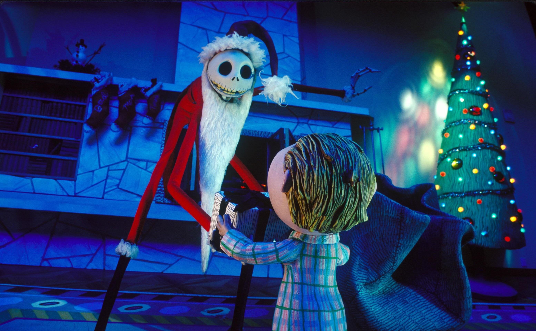 Jack Skellington as Santa, A wallpaper of Jack Skellington as Santa.