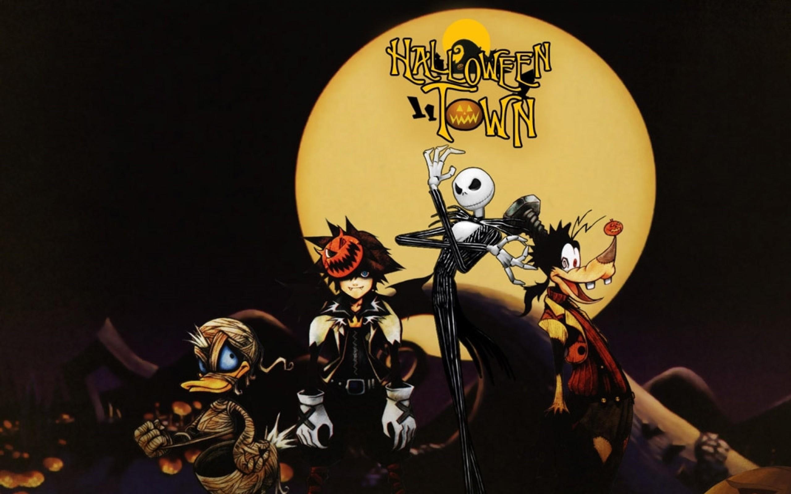 kingdom hearts halloween goofy jack skellington the nightmare before  christmas donald duck sora 1 Wallpaper HD