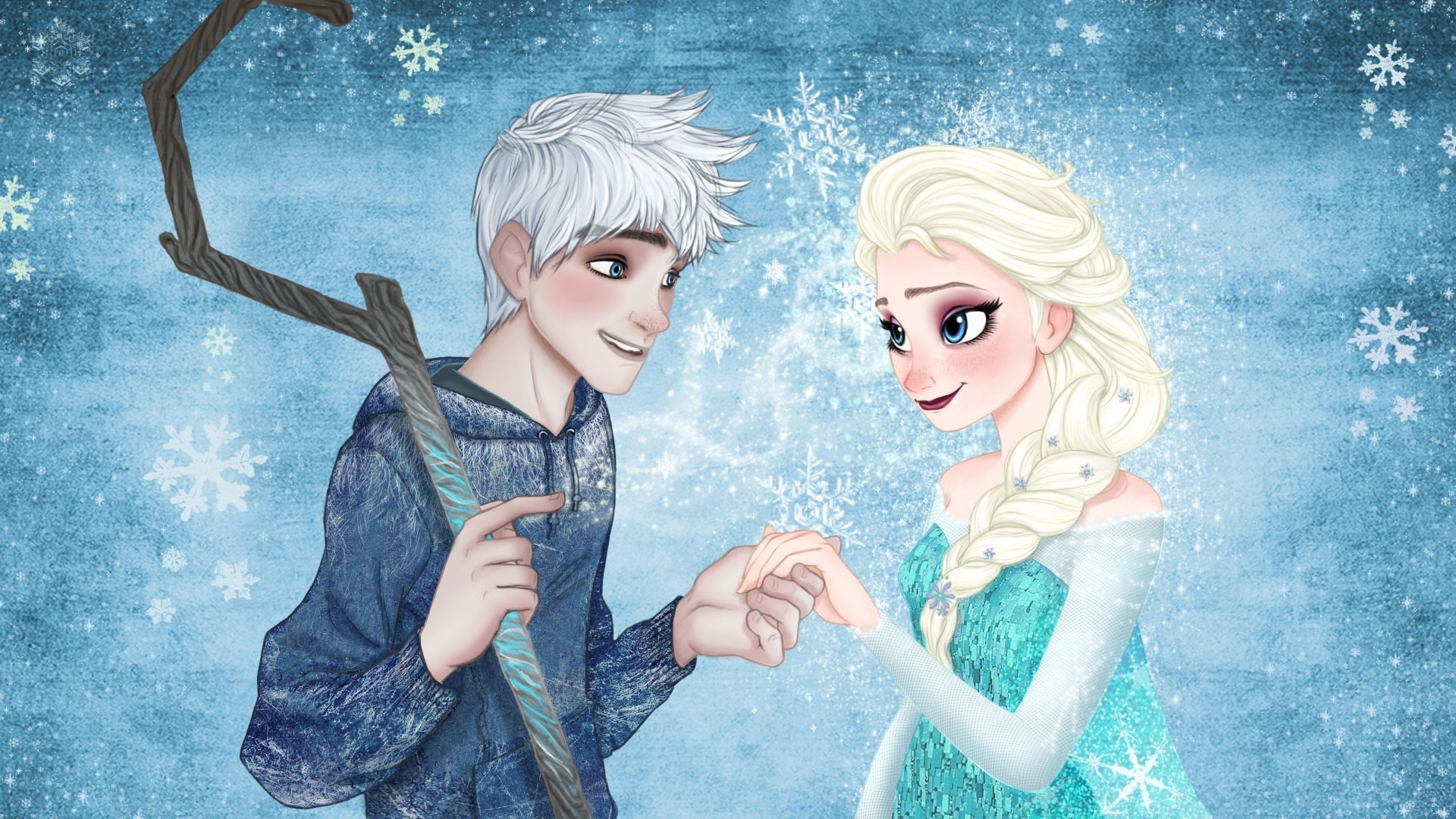 Elsa and Jack Frost Wallpapers