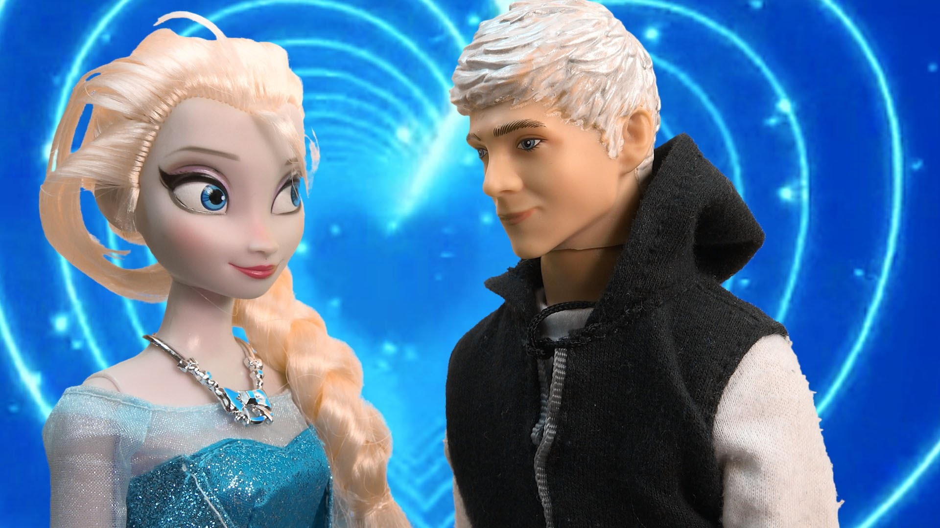 Queen Elsa Disney Frozen Meets Jack Frost Princess Anna Part 32 Dolls  Series Video Love Spell – YouTube
