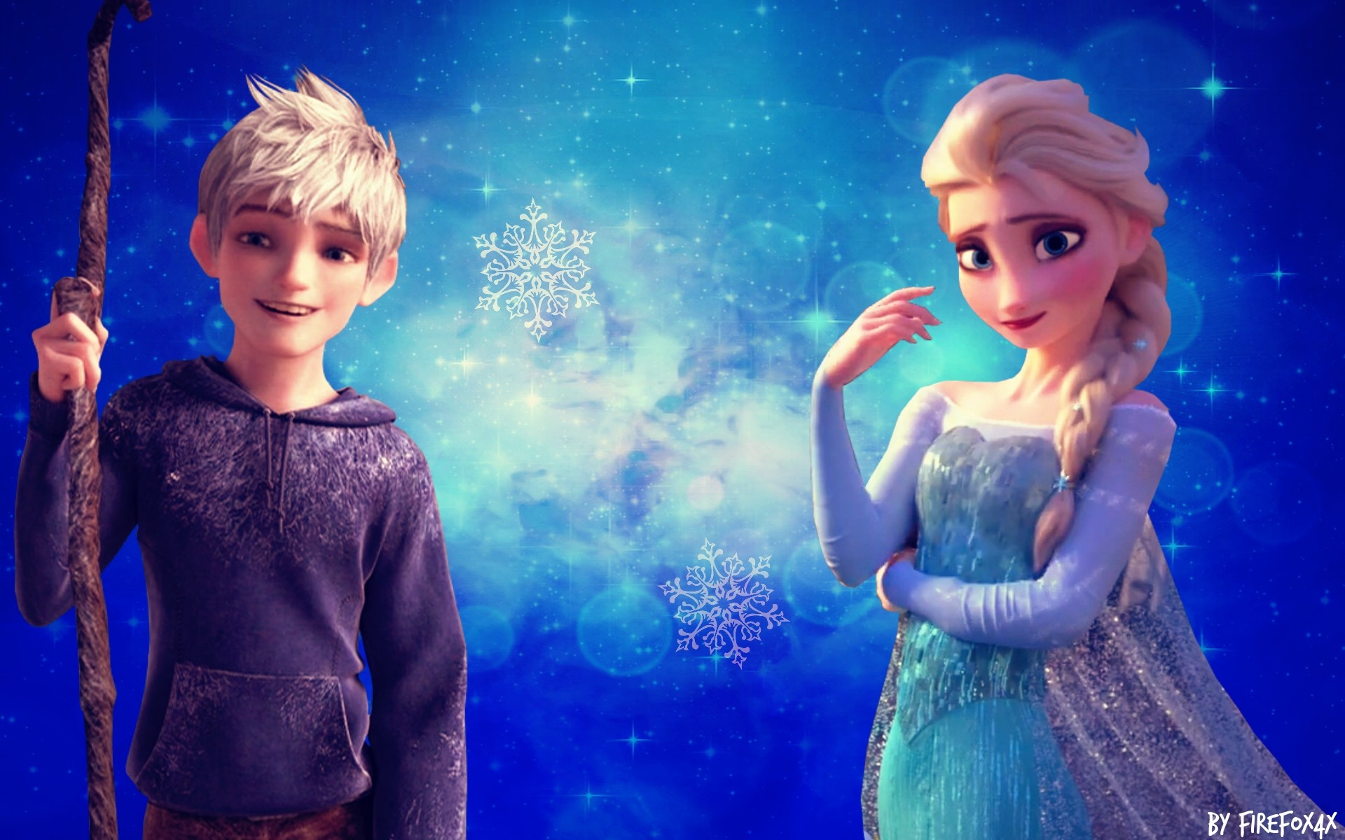 … Elsa and Jack Frost wallpaper by FireFox4X
