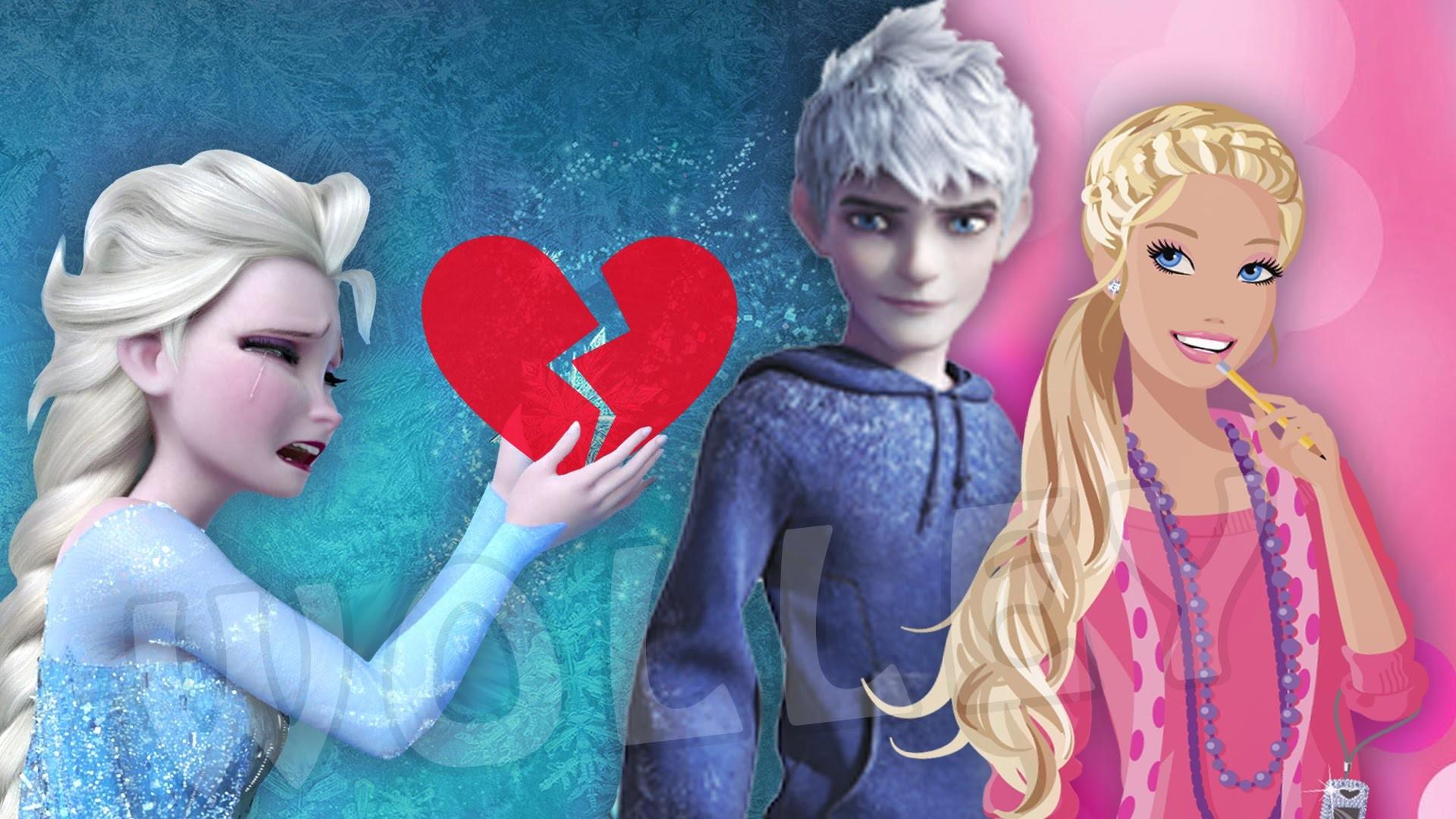 Barbie in Love with Jack Frost!? – Barbie Boyfriend Thief Disguises as Elsa,  Anna , Rapunzel & Ariel – YouTube