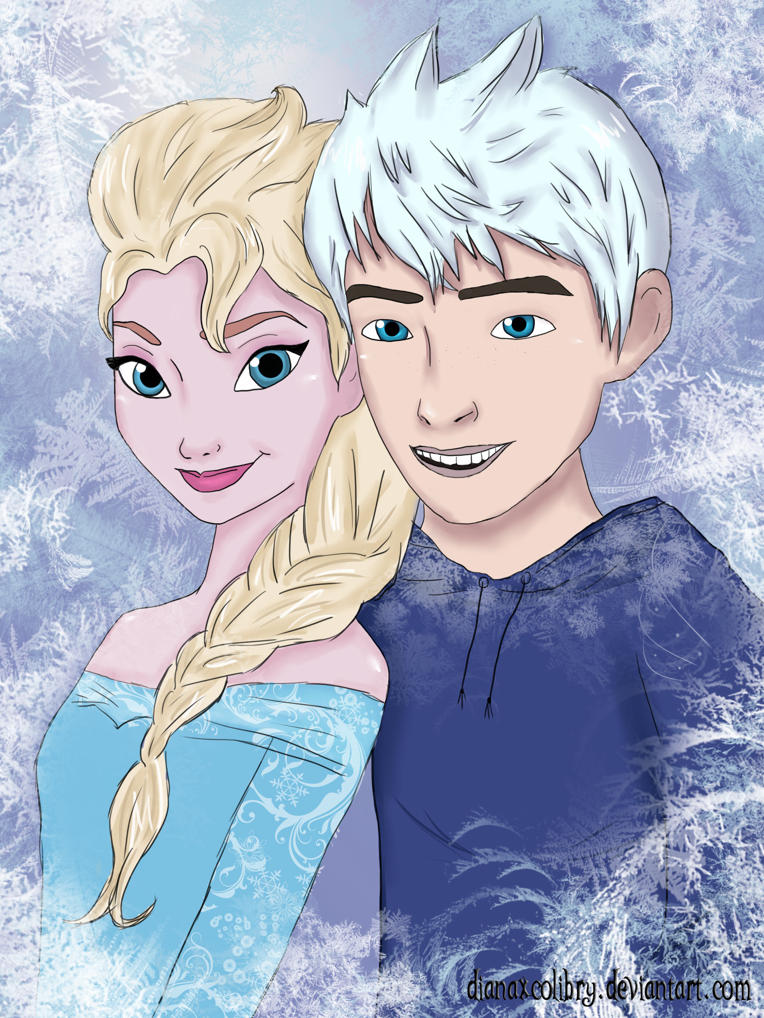 Elsa and Jack Frost by DianAxColibrY Elsa and Jack Frost by DianAxColibrY