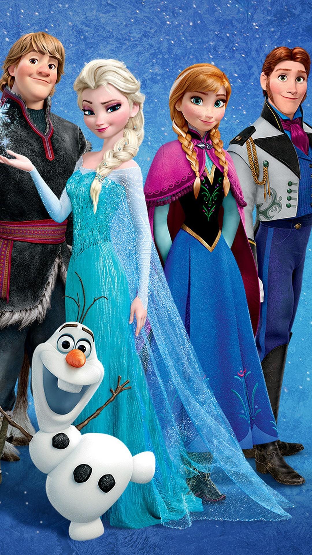 Frozen iPhone 6 plus wallpaper -2014 Christmas Disney Anna Elsa Kristoff  Hans Olaf #2014