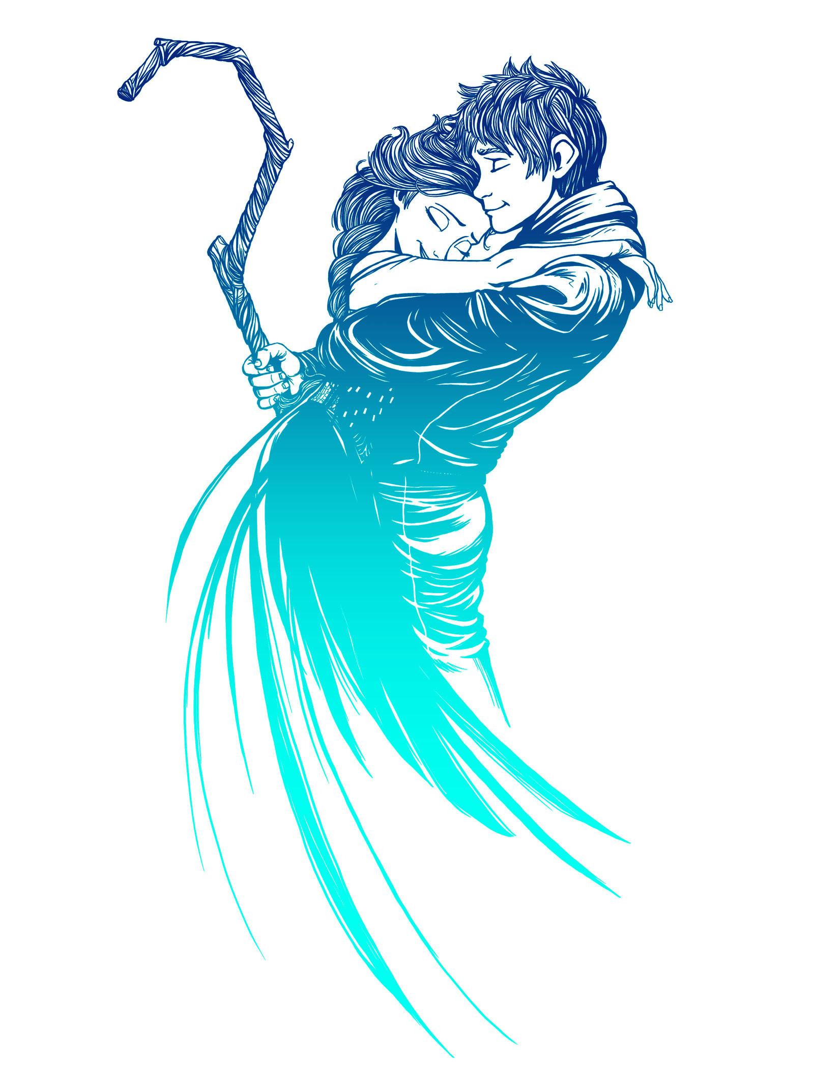 Jack Frost and Elsa – Frozen Fantasy – Six Eyed Monster – Artists