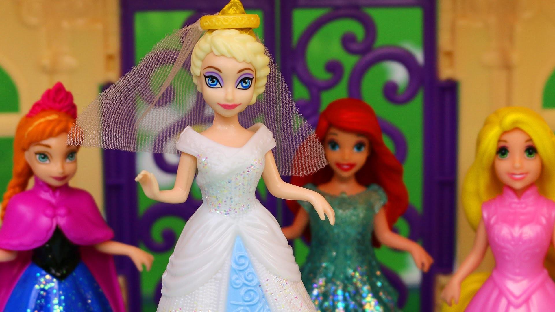 Elsa and Jack Frost Wedding Dress Frozen Anna Rapunzel Ariel to Get Married  – YouTube