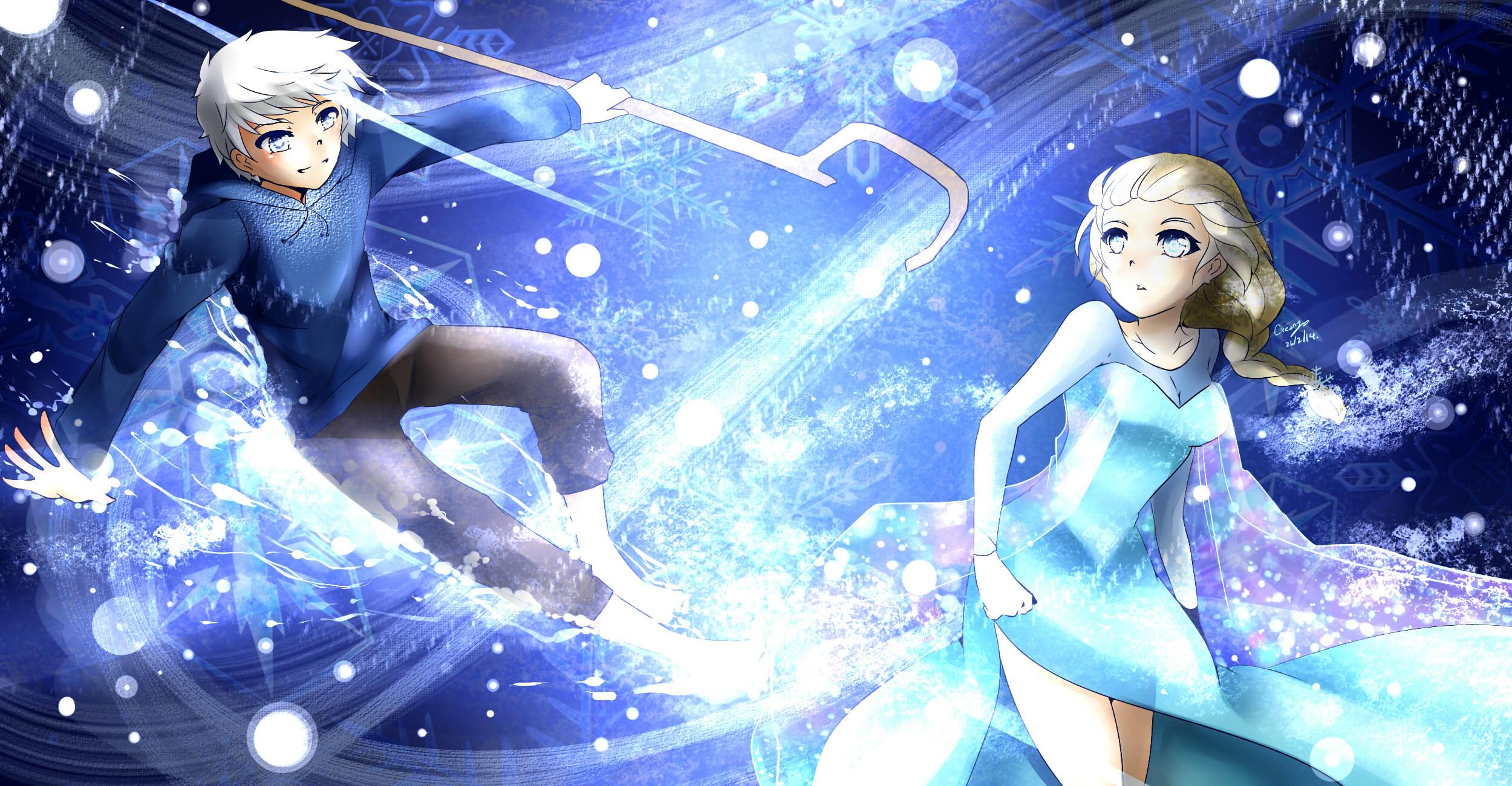 Jack forst and Elsa by creamycreama Jack forst and Elsa by creamycreama