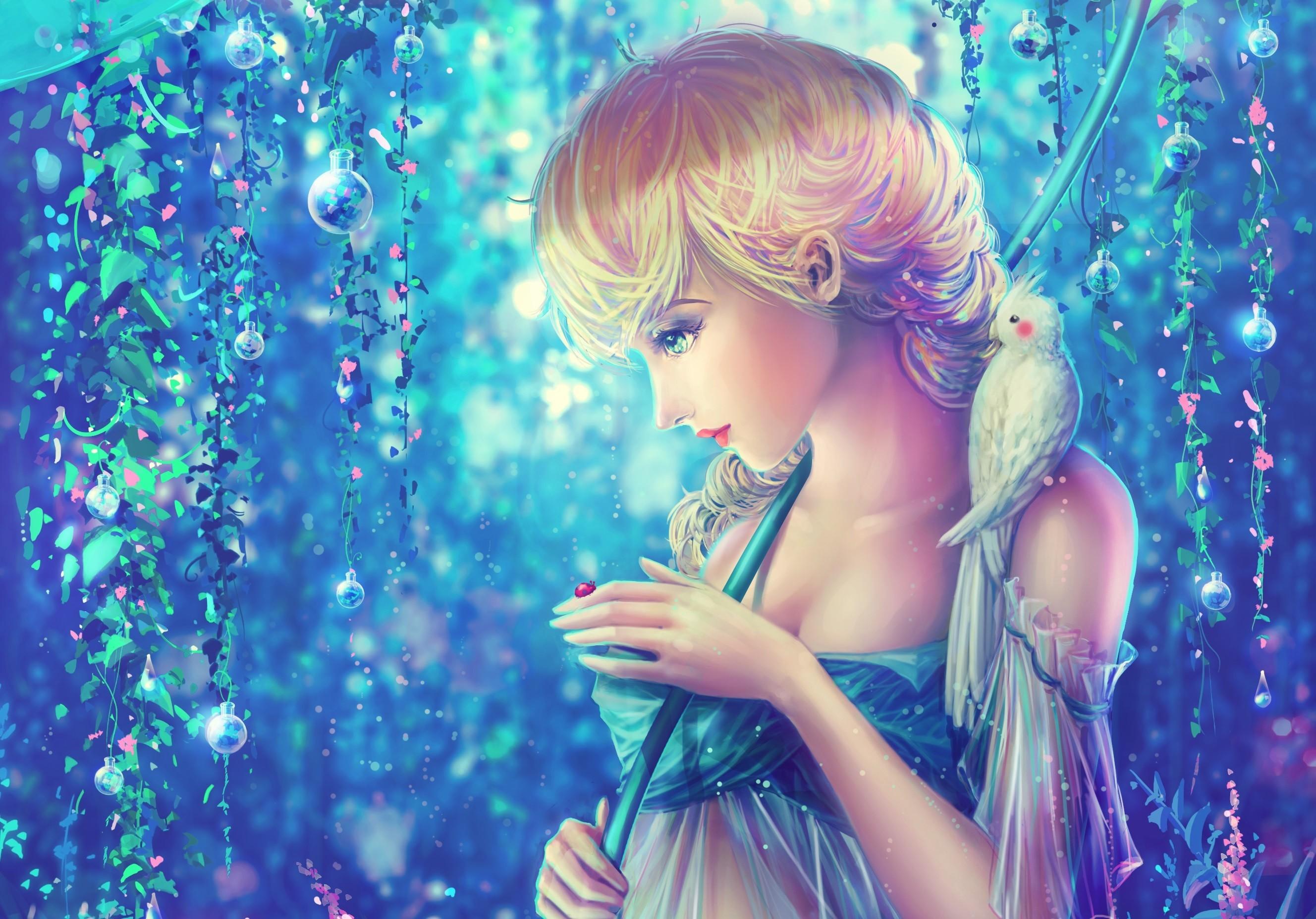 girl-bird-parrot-ladybug-dew-princess-Elsa-rainbow-
