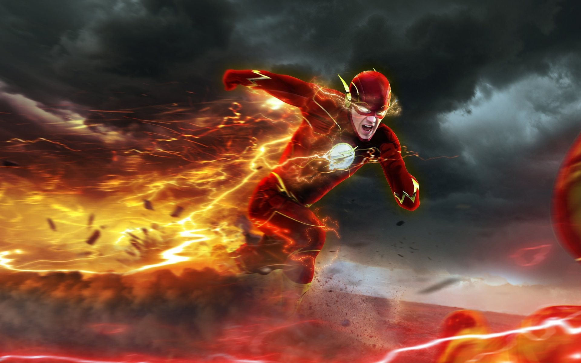 flash art barry allen the flash professor zoom reverse-flash eobard thawne  chase
