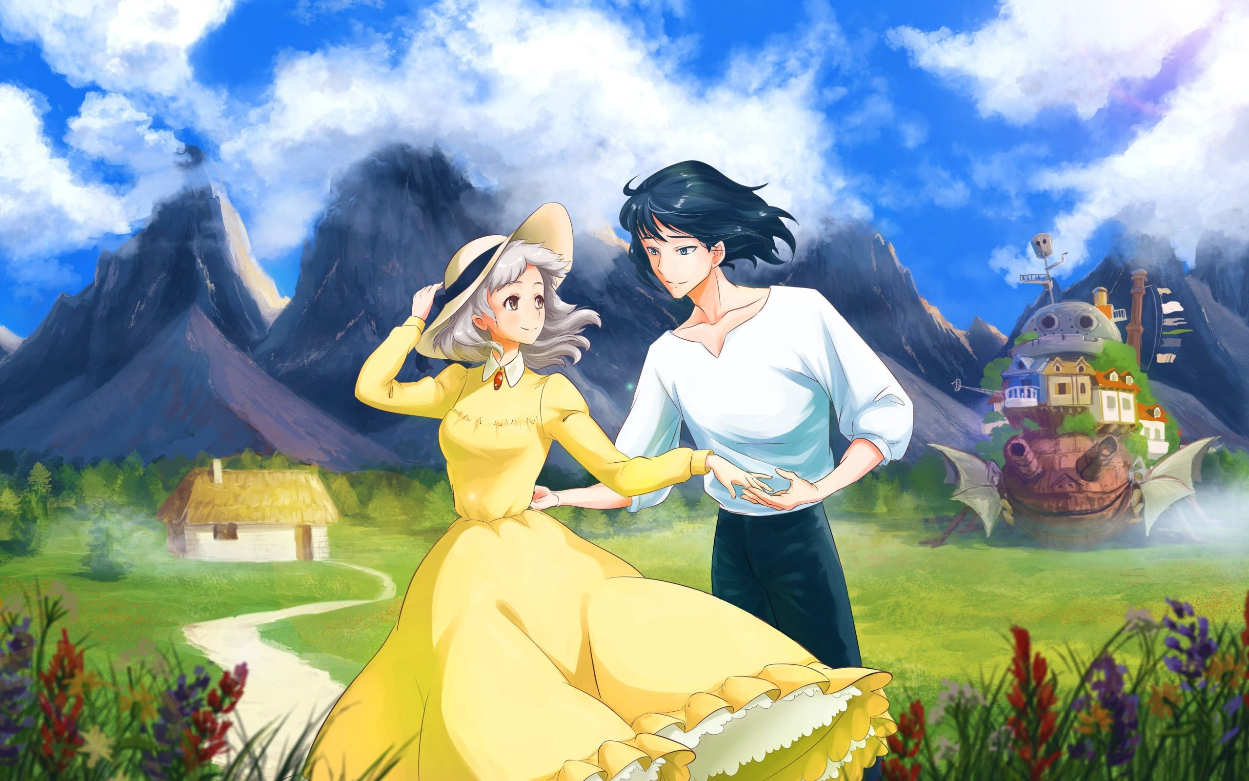 Howl's moving castle Sophie Hatter and Prince Justin
