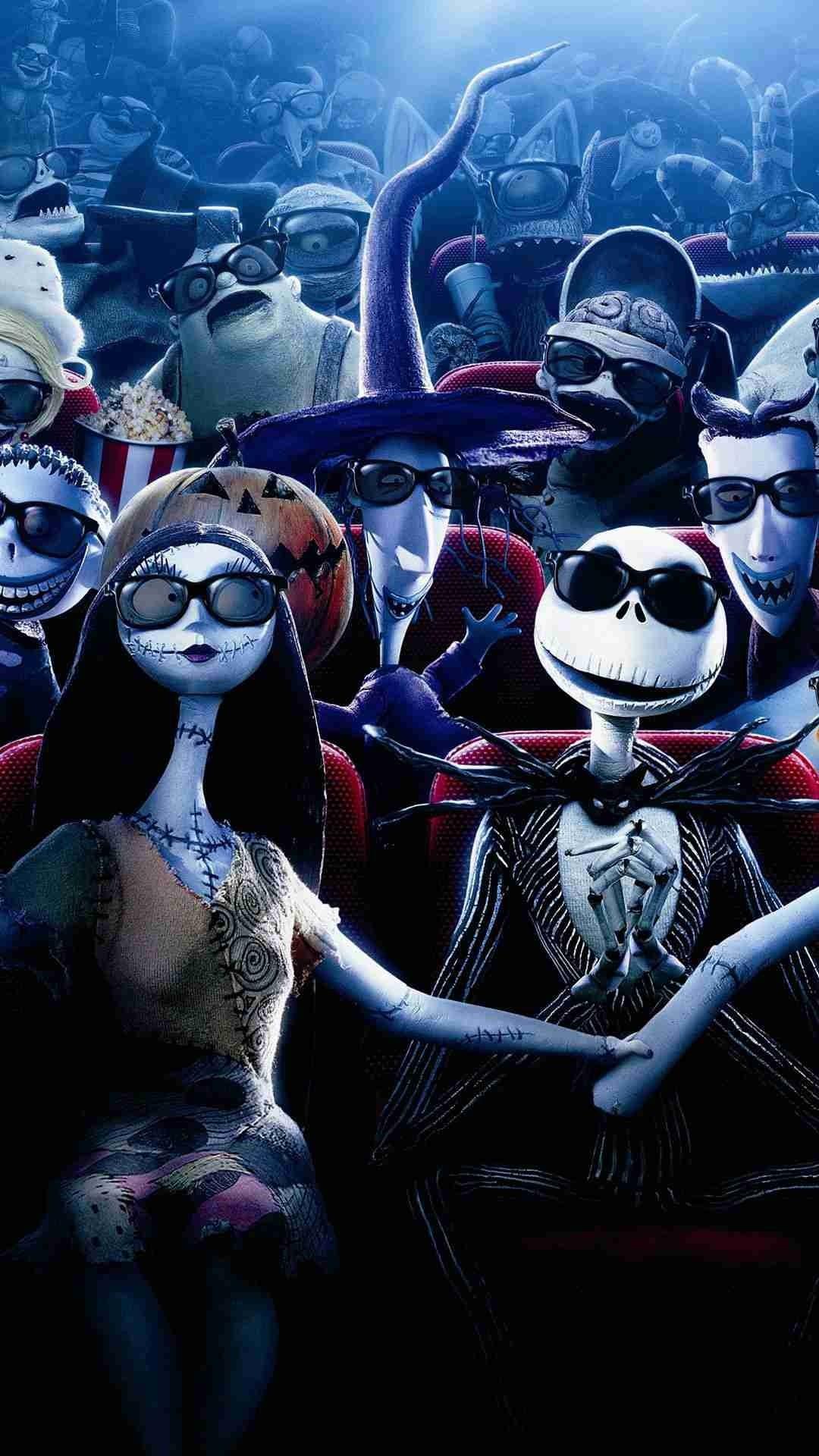 2014 Halloween Glass Jack Skellington Sally iPhone 6 Wallpaper – Nightmare  Before Christmas, Monster