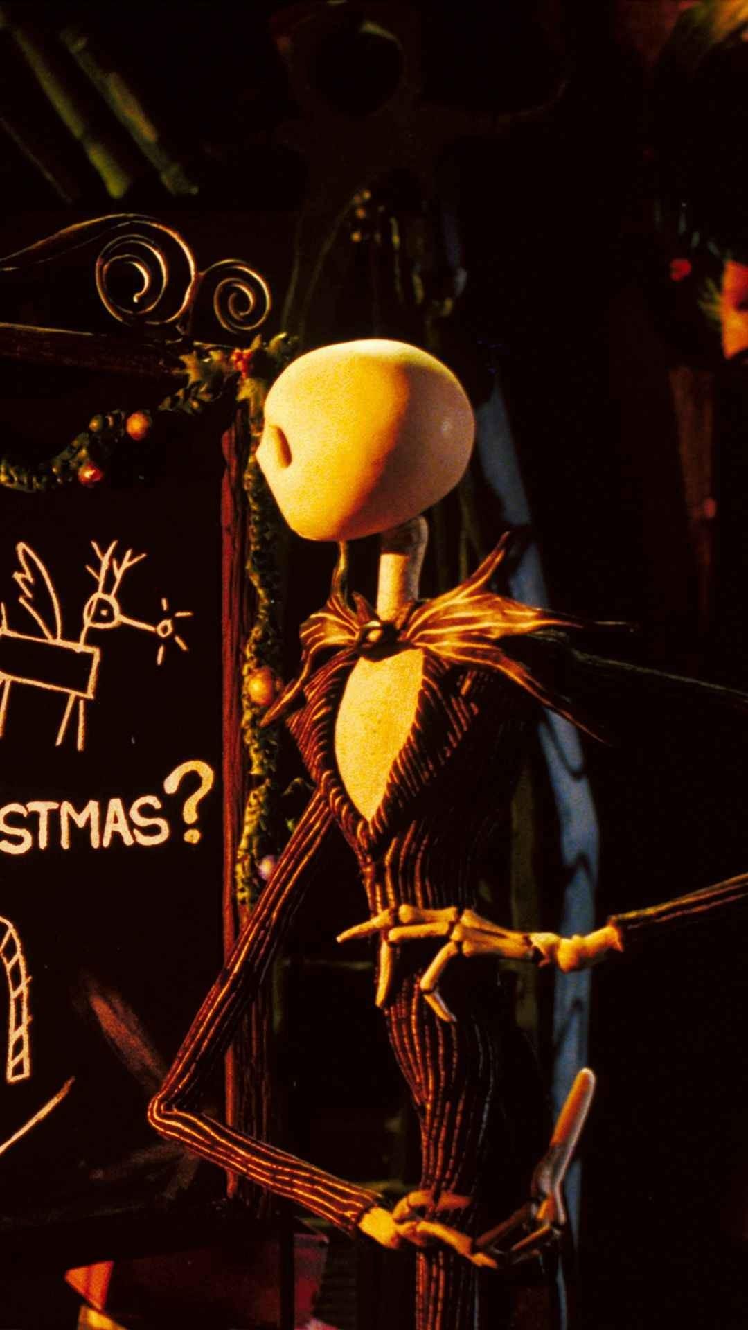 Formula Chalkboard 2014 Halloween Jack Skellington iPhone 6 Wallpaper – Nightmare  Before Christmas Movie #2014