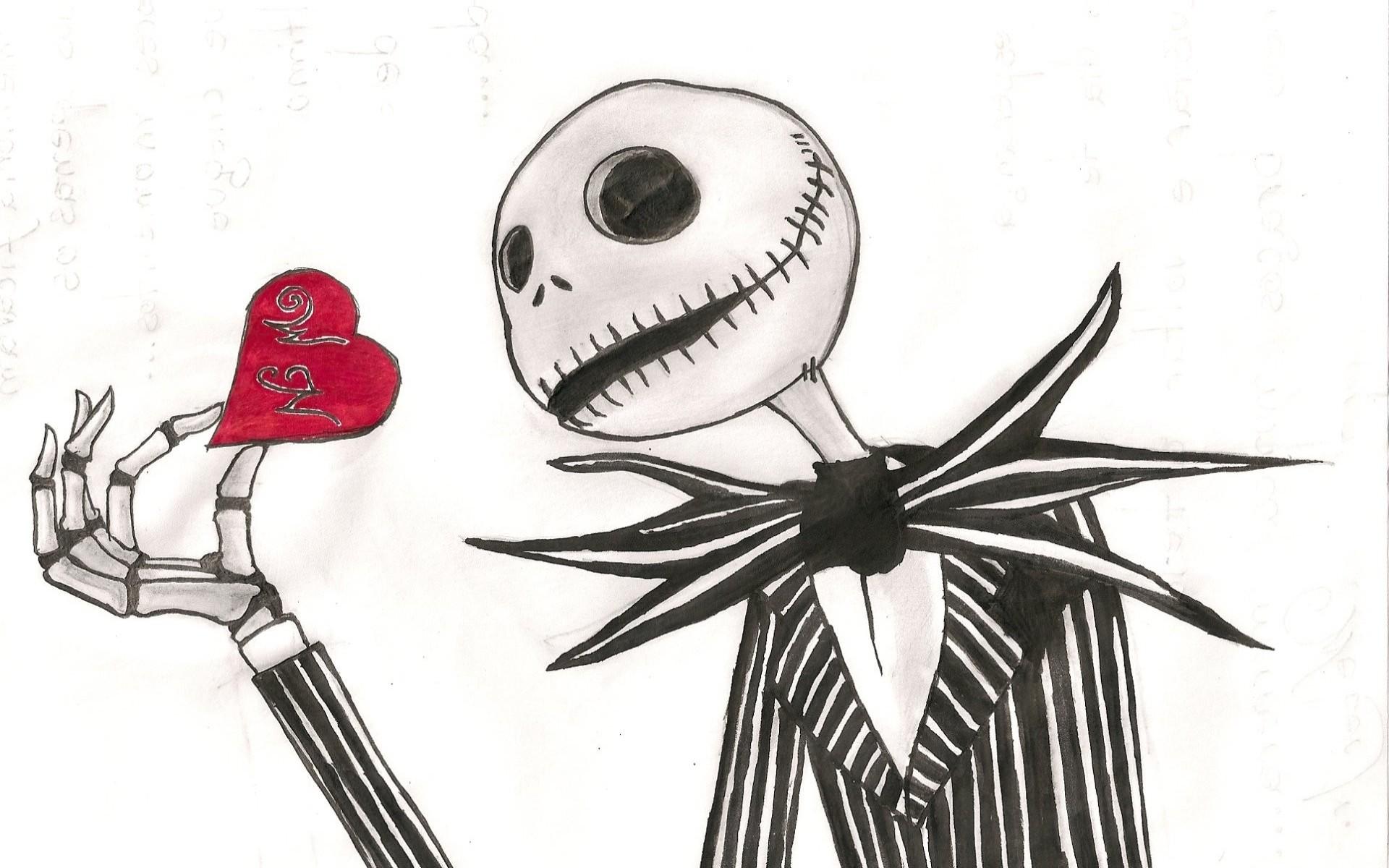 Jack skellington the nightmare before christmas dark skull love romance  mood art wallpaper     28354   WallpaperUP