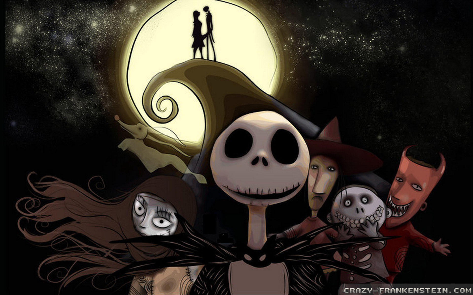 nightmare before christmas wallpaper | Nightmare Before Christmas Crazy  Frankenstein Wallpaper with .