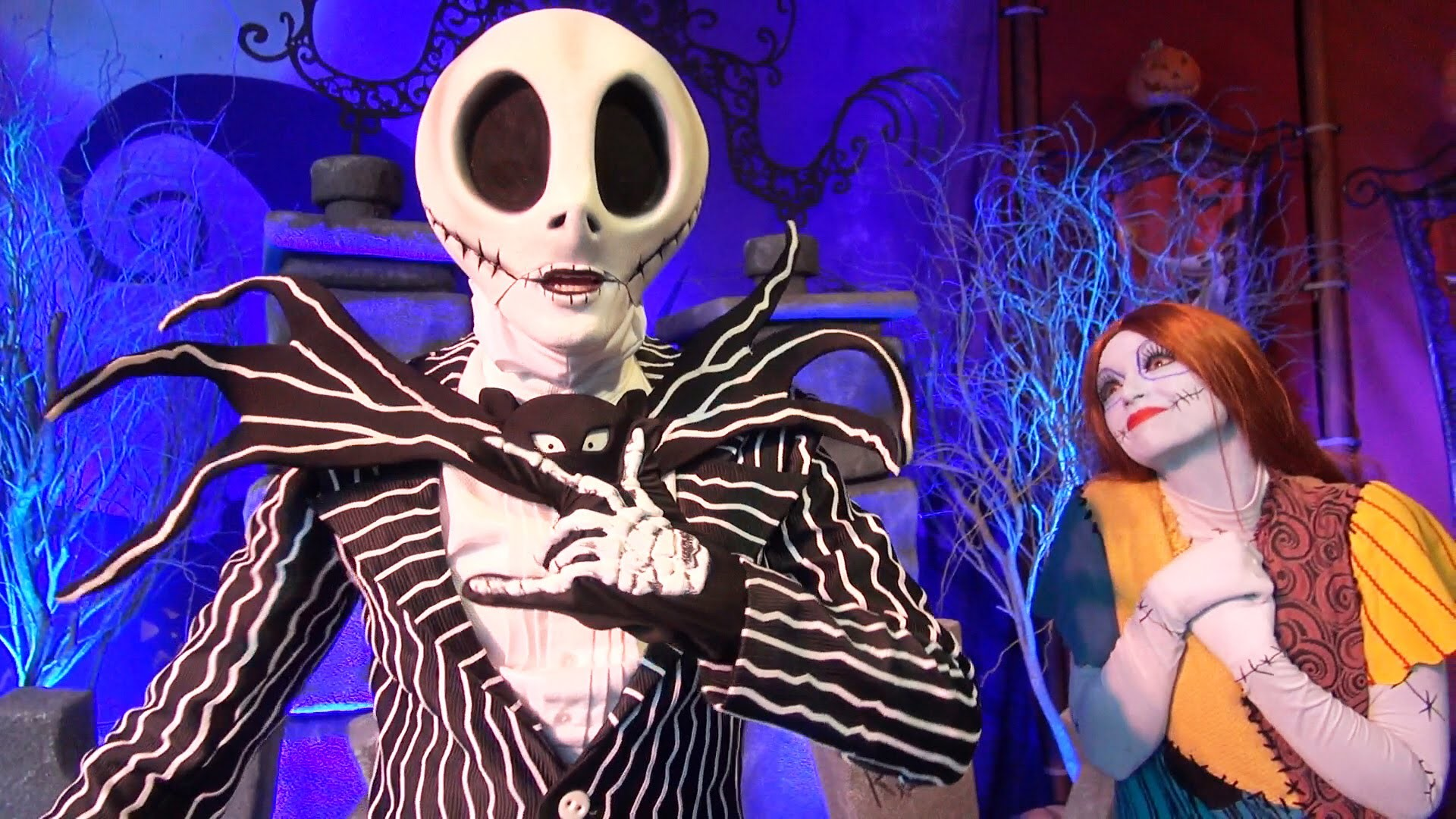 Jack Skellington & Sally Meet & Greet at Mickey's Not-So-Scary Halloween  Party 2015, Magic Kingdom – YouTube