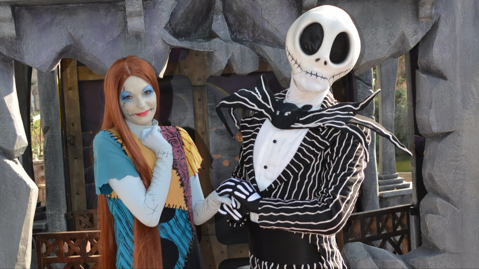Jack Skellington (Mr. Jack) and Sally with Ghost Dog Zero Meet .