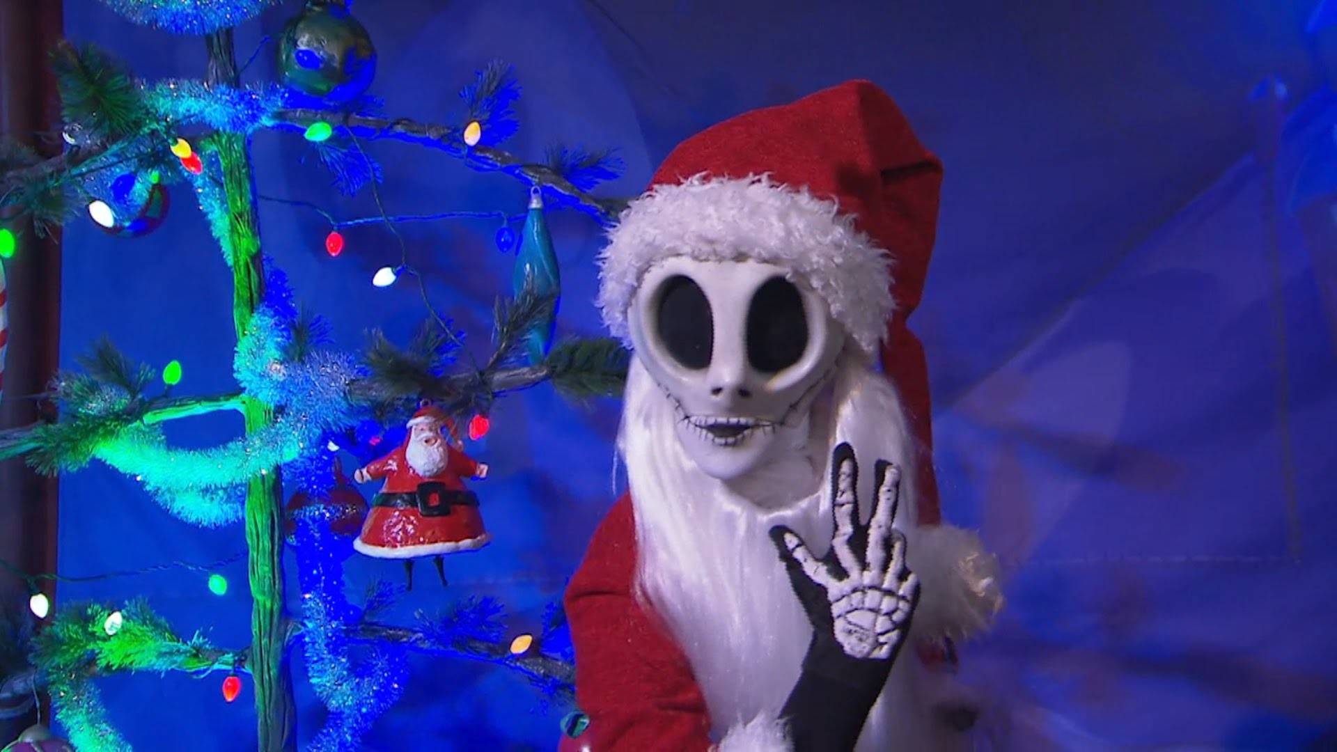 Meet Jack Skellington as Sandy Claws during Very Merry Christmas Party –  YouTube