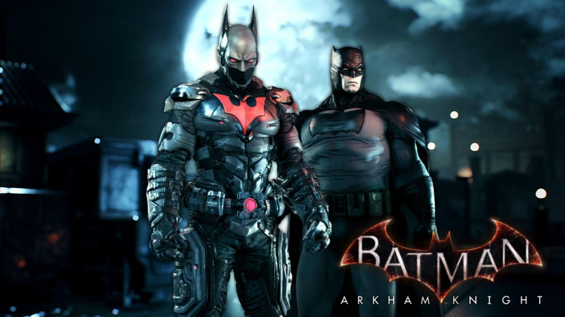 Batman: Arkham Knight – Batman Beyond & Dark Knight Returns Skins Gameplay  – YouTube