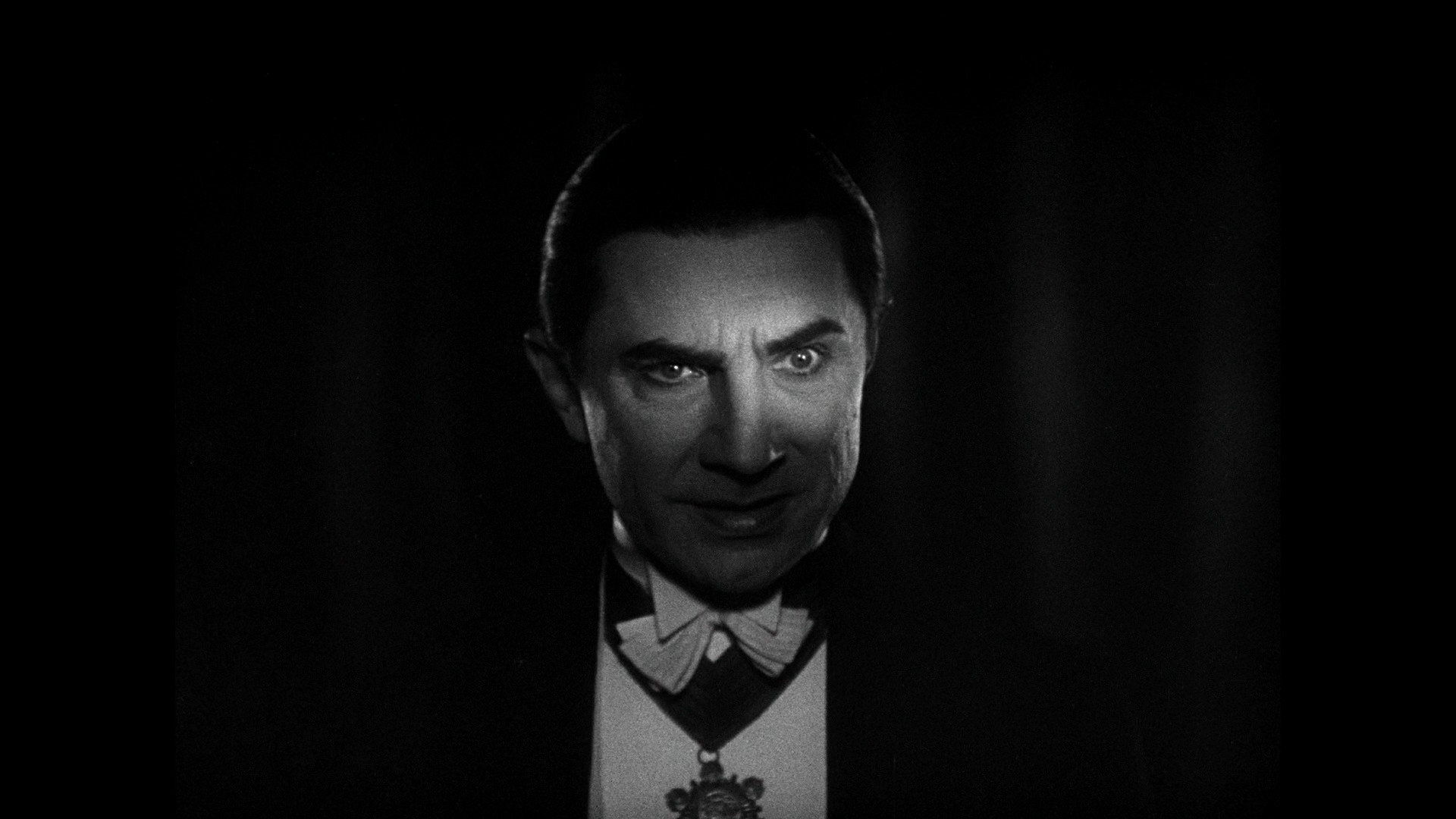 … Beware the vampires stare – Bela Lugosi in a scene from the 1931  version of Dracula …