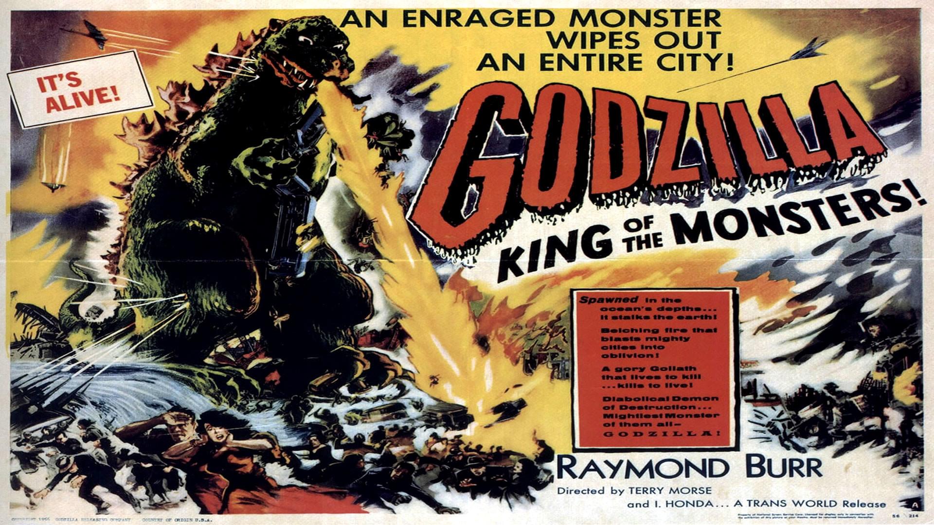 GODZILLA Landscape – Monster B Movie Posters Wallpaper Image