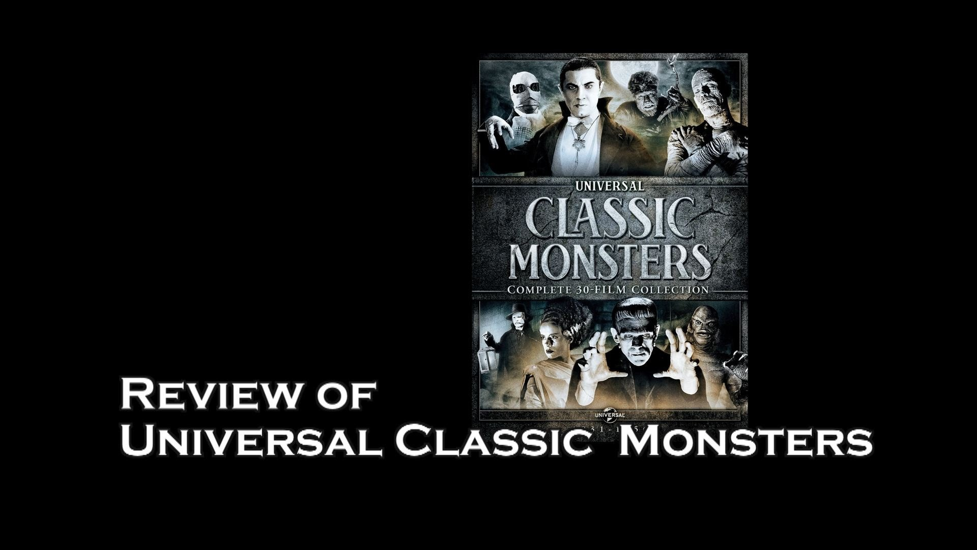 DVD Movie Box Set Review : Universal Classic Monster Horror Movies – YouTube