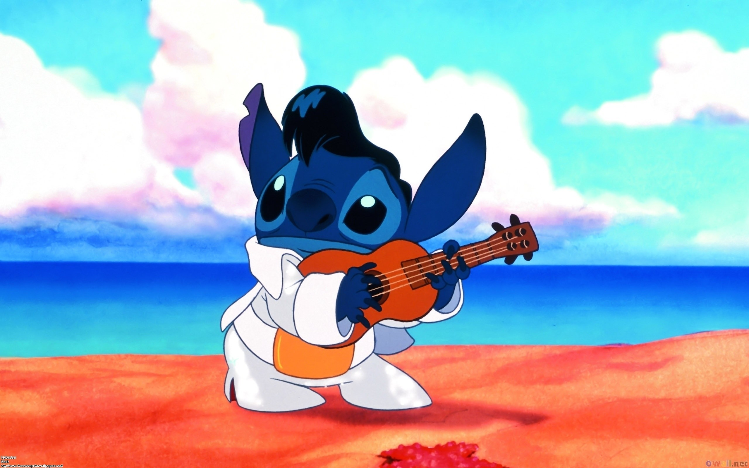 Disney Lilo & Stitch Guitar Cartoons wallpaper background
