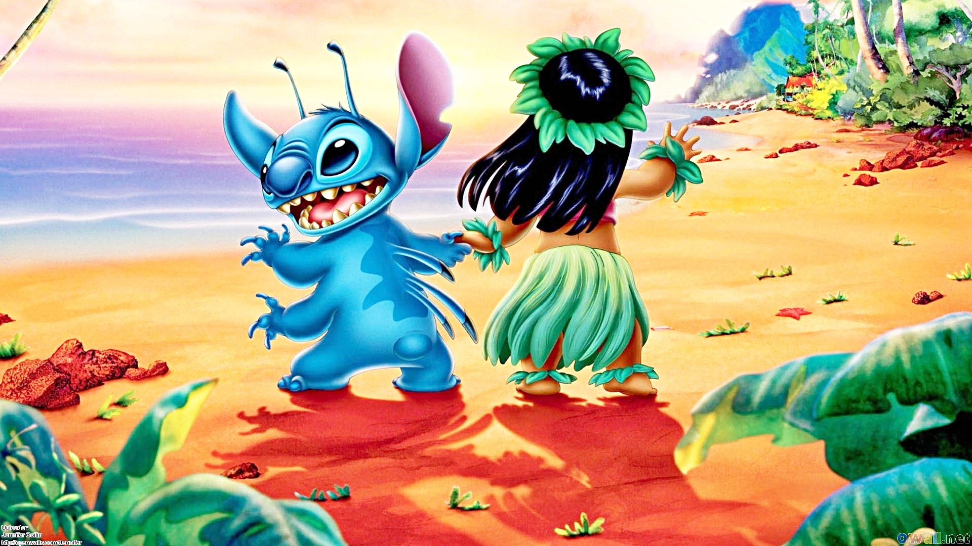 Wallpapers – Stitch & Lilo Pelekai – Walt Disney Characters Wallpaper .