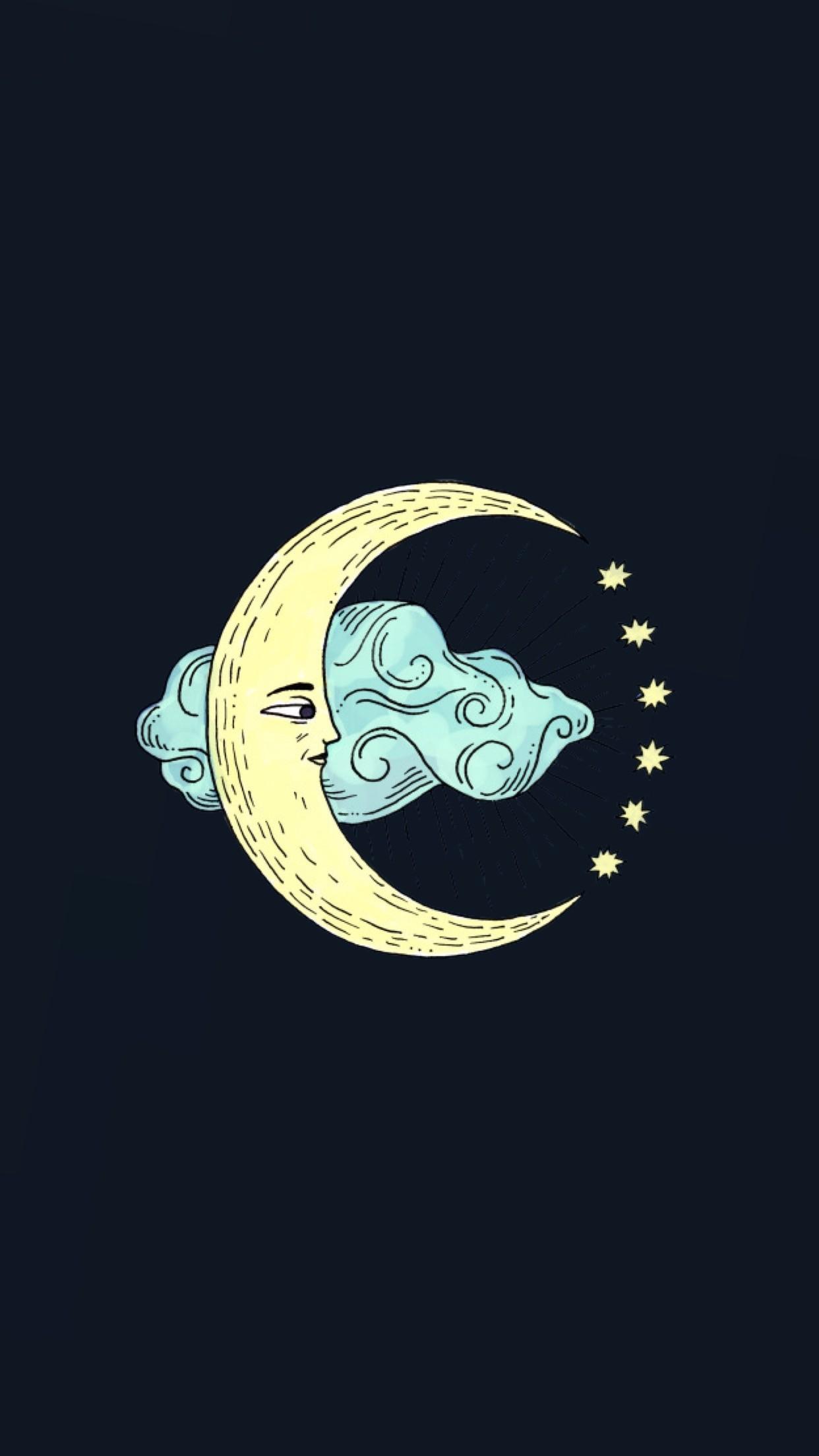 Moon in the clouds wallpaper | made by Laurette | instagram:@laurette_evonen